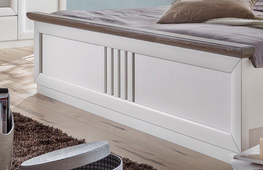 Eleganza Telmex Doppelbett Pinie weiß | Möbel Letz - Ihr Online-Shop
