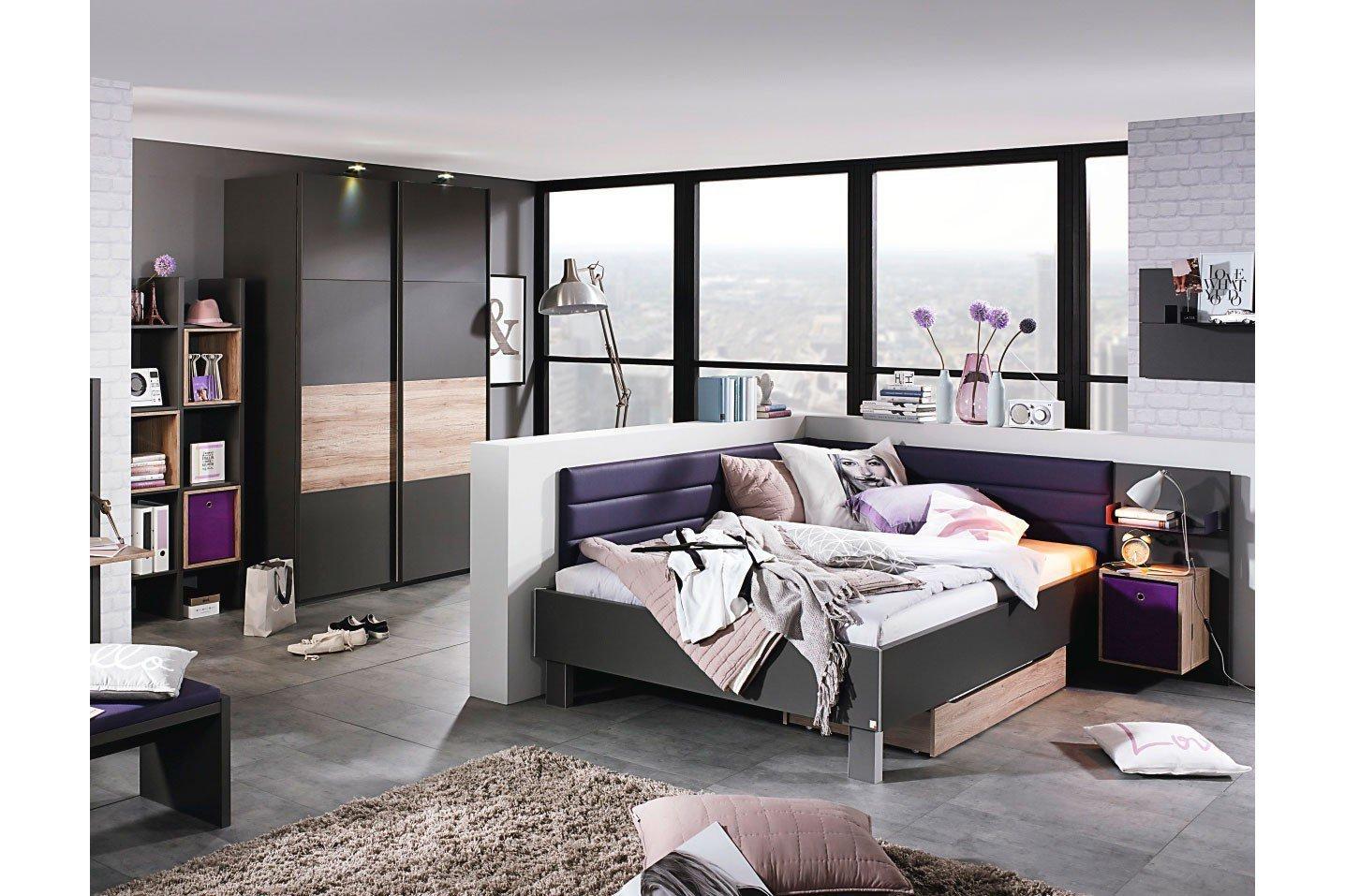 rauch nice4teens bett 140 x 200 cm graphit m bel letz ihr online shop. Black Bedroom Furniture Sets. Home Design Ideas