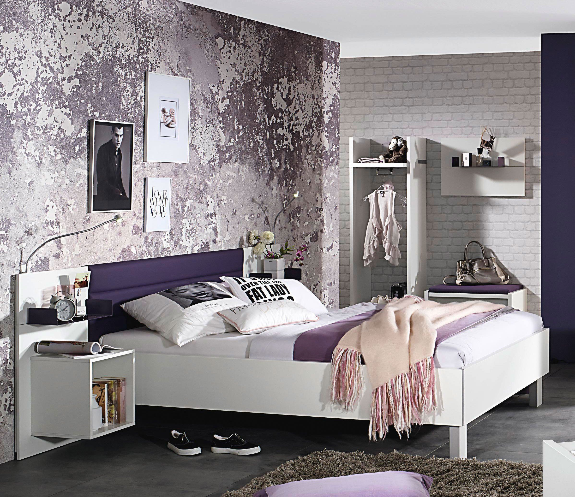 rauch nice4teens bett 140 x 200 cm graphit m bel letz ihr online shop. Black Bedroom Furniture Sets. Home Design Ideas