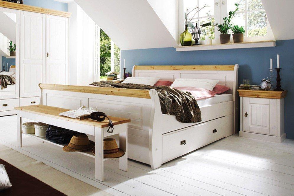 wei es doppelbett kiefer von pure natur m bel letz ihr online shop. Black Bedroom Furniture Sets. Home Design Ideas