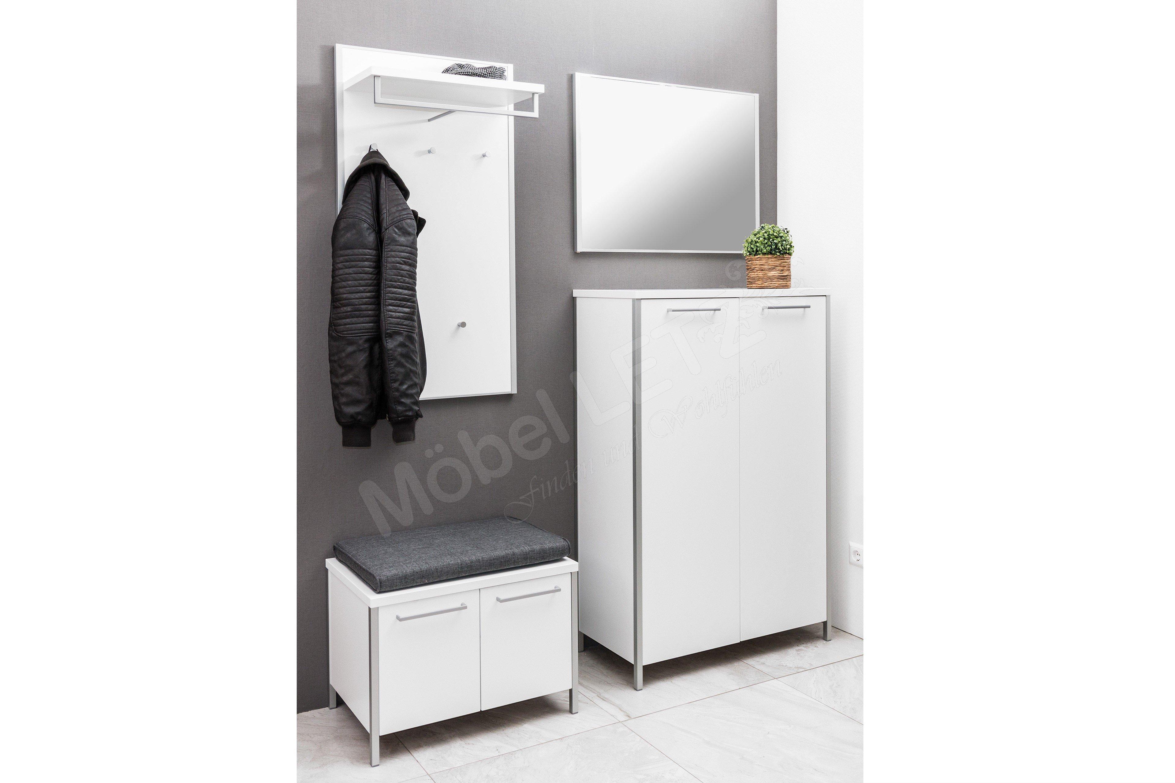 voss garderobe limana lack wei m bel letz ihr online shop. Black Bedroom Furniture Sets. Home Design Ideas