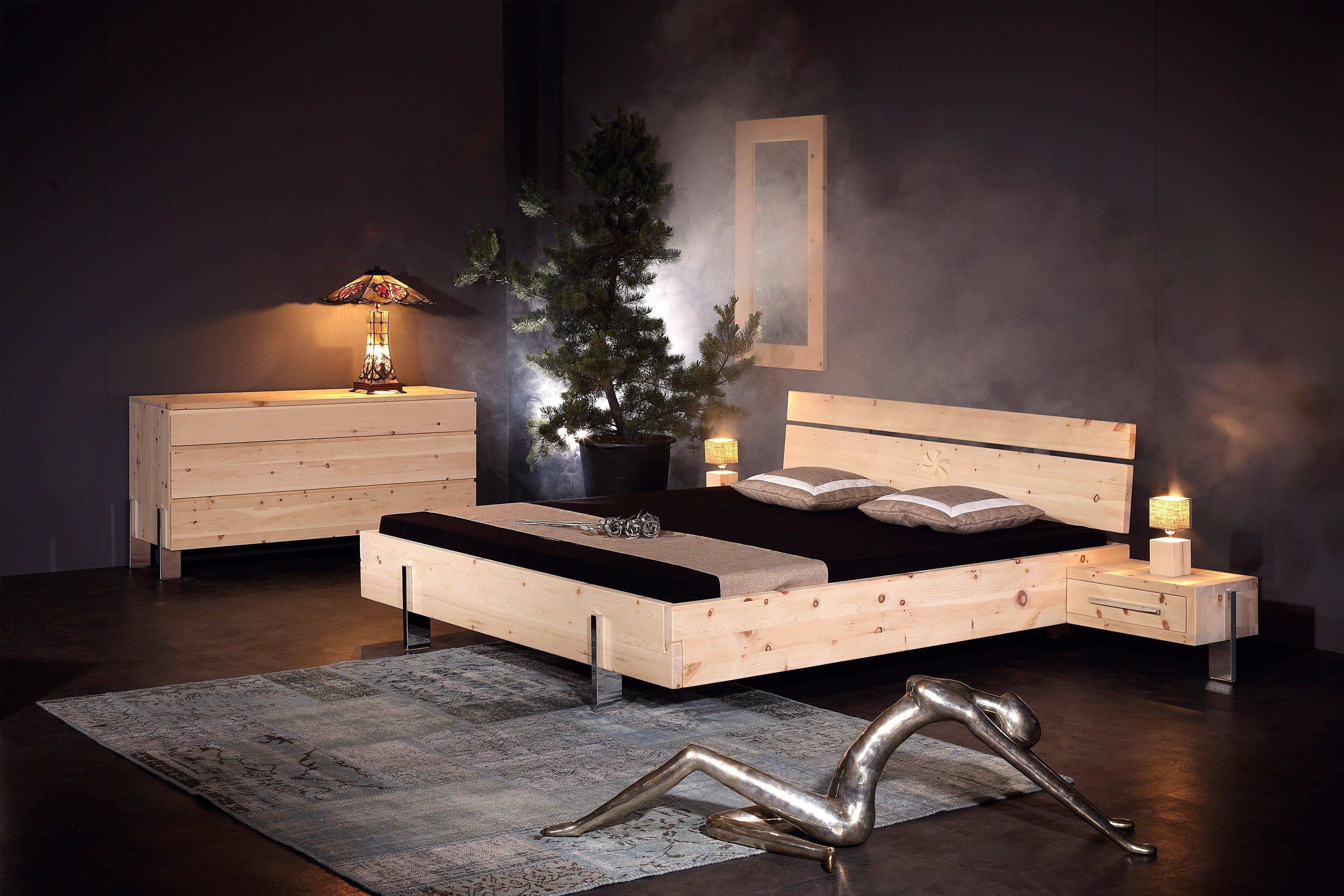 sprenger parpan bett zirbe massivholz m bel letz ihr online shop. Black Bedroom Furniture Sets. Home Design Ideas