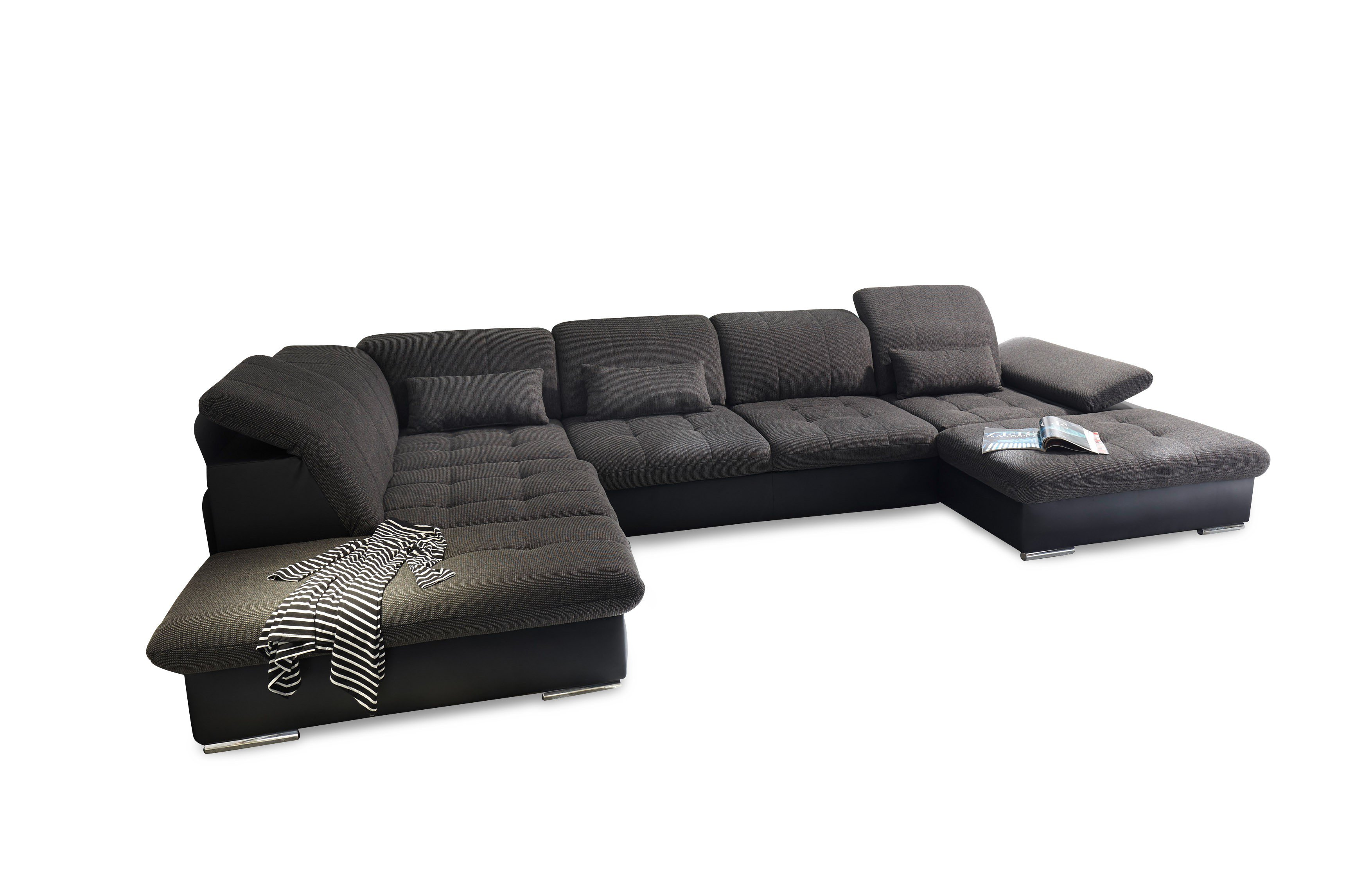 black red white genf xxl sofa lawa schwarz m bel letz ihr online shop. Black Bedroom Furniture Sets. Home Design Ideas