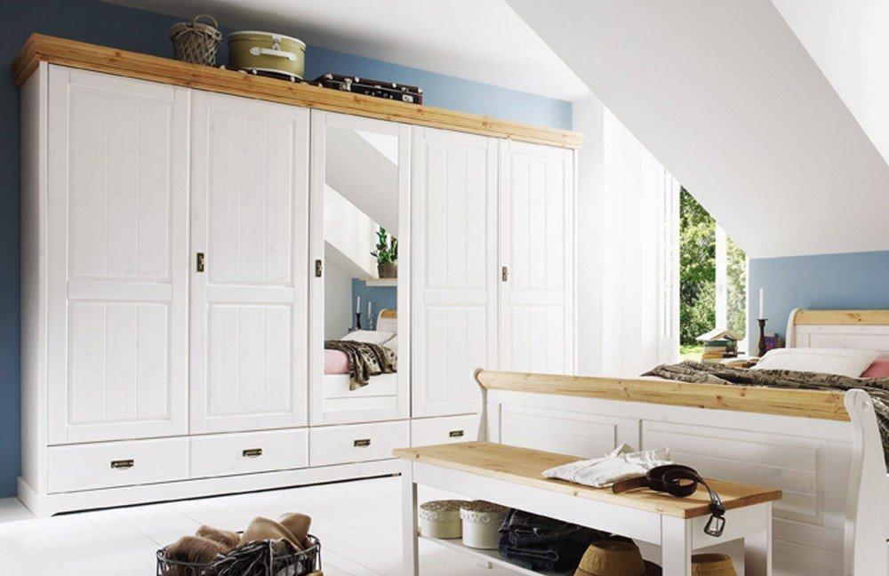 Pure Natur - Schlafzimmer-Set Kiefer weiß | Möbel Letz - Ihr Online-Shop