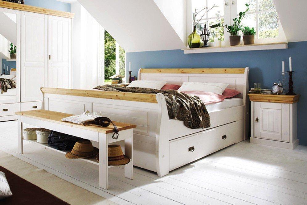 Pure Natur - Schlafzimmer-Set Kiefer weiß | Möbel Letz - Ihr ...