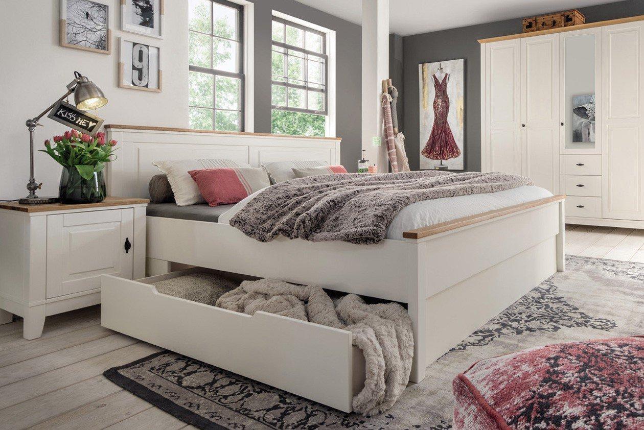 Marstal Bett Kiefer creme von Pure Natur   Möbel Letz - Ihr Online-Shop