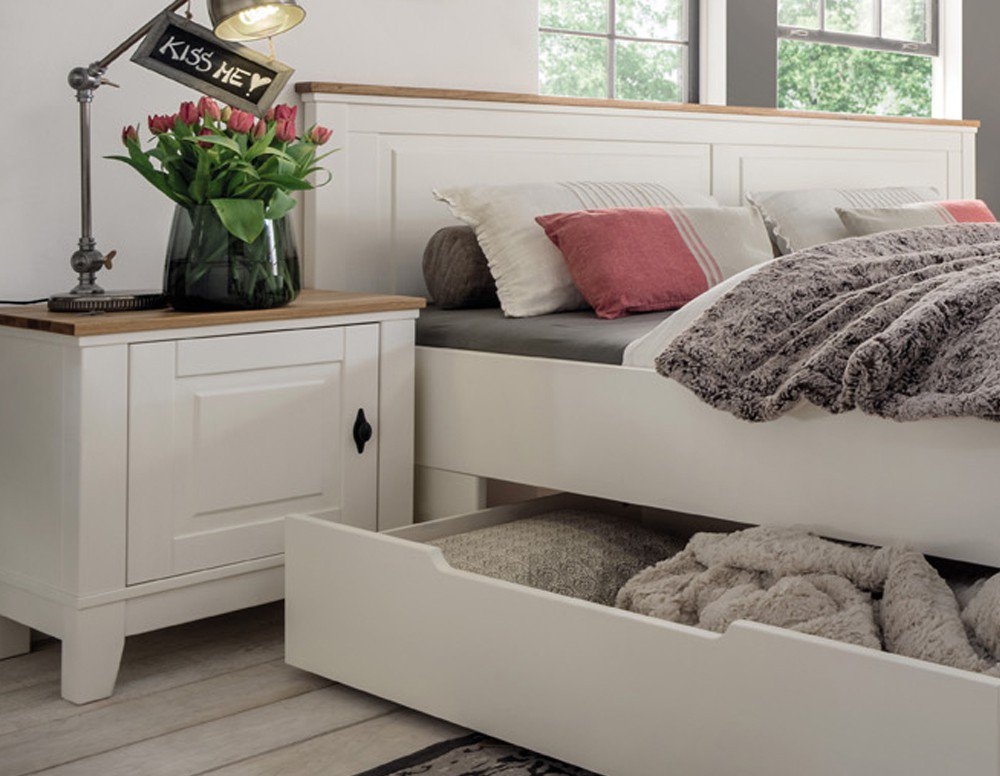 marstal bett kiefer creme von pure natur m bel letz ihr online shop. Black Bedroom Furniture Sets. Home Design Ideas