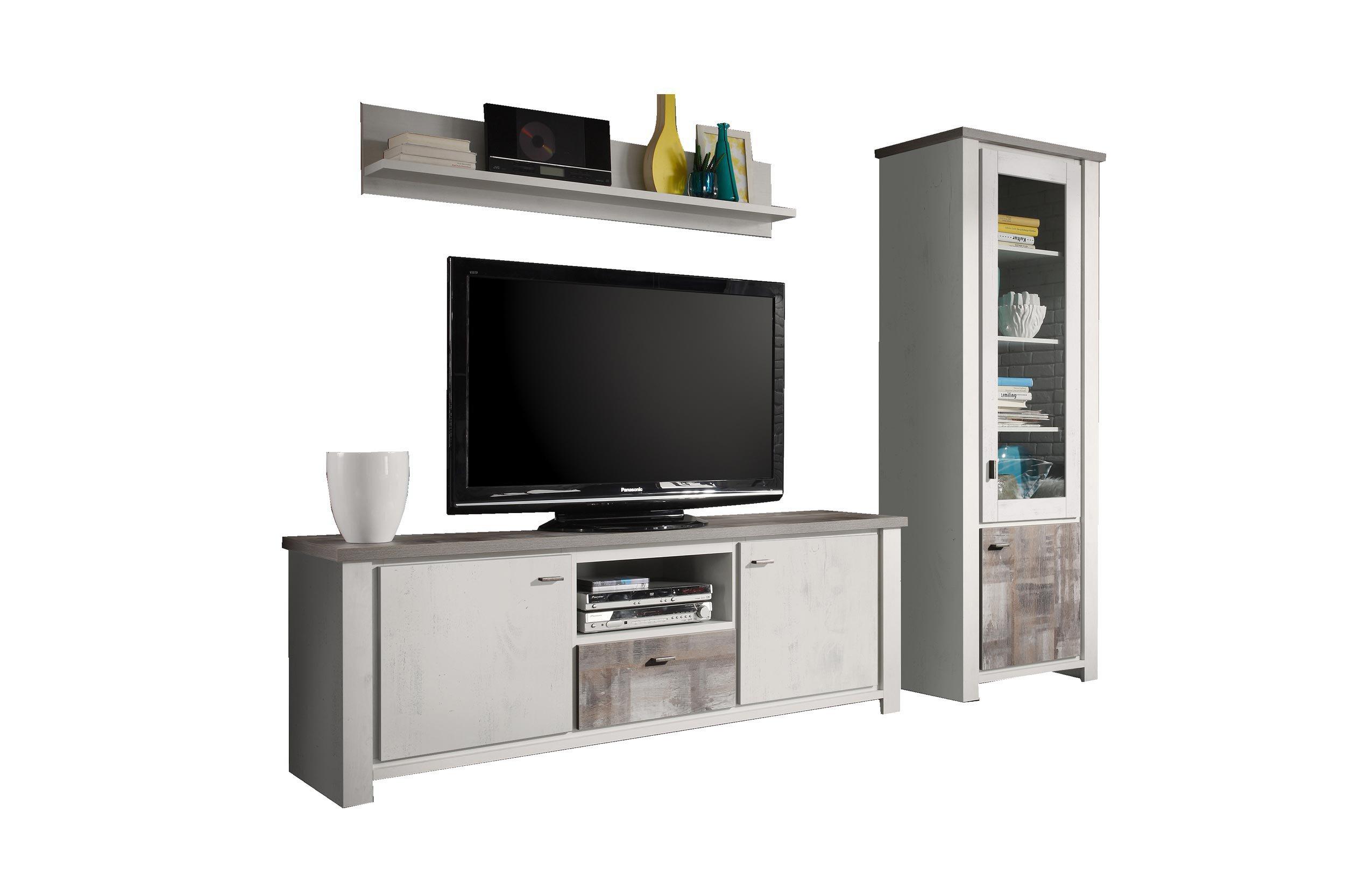 wohnwand paddy eiche gewei t eiche vintage von m usbacher. Black Bedroom Furniture Sets. Home Design Ideas