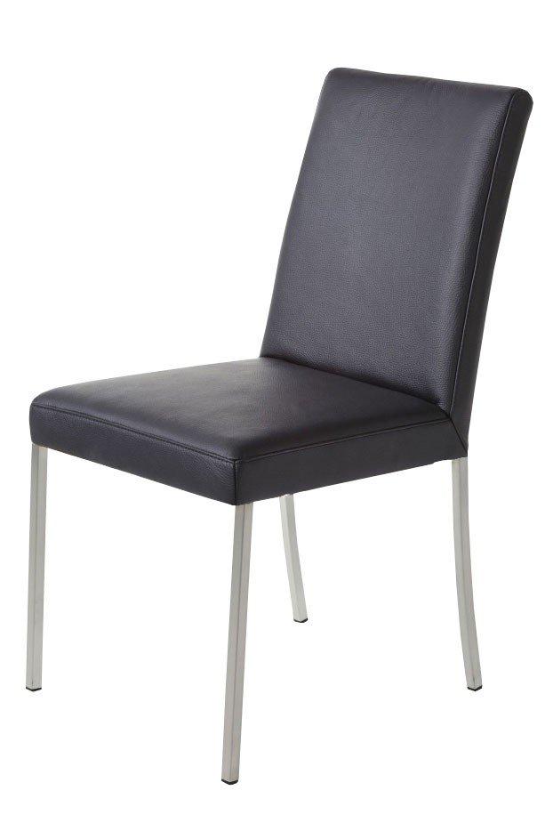 k w formidable home collection stuhl 6101 leder schwarz edelstahl m bel letz ihr online shop. Black Bedroom Furniture Sets. Home Design Ideas
