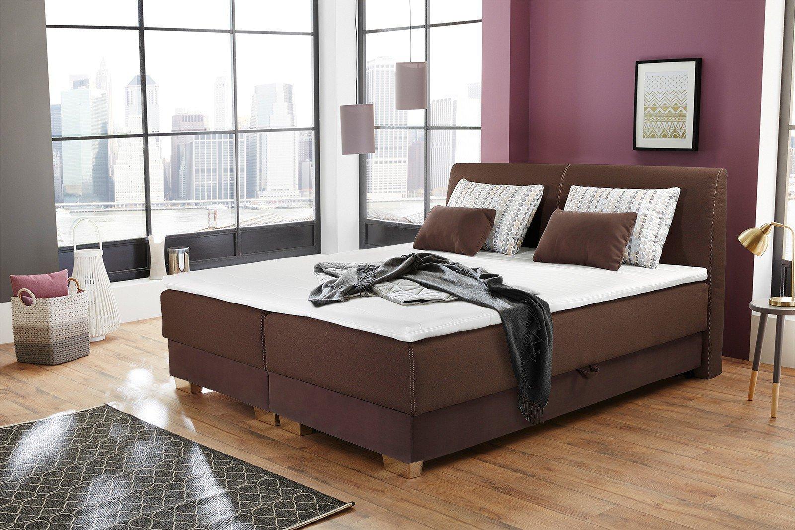jockenh fer julie boxspringbett 180 braun mit bettkasten m bel letz ihr online shop. Black Bedroom Furniture Sets. Home Design Ideas
