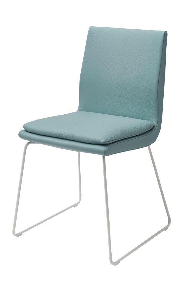k w stuhl 6125 in leder hellblau m bel letz ihr online. Black Bedroom Furniture Sets. Home Design Ideas