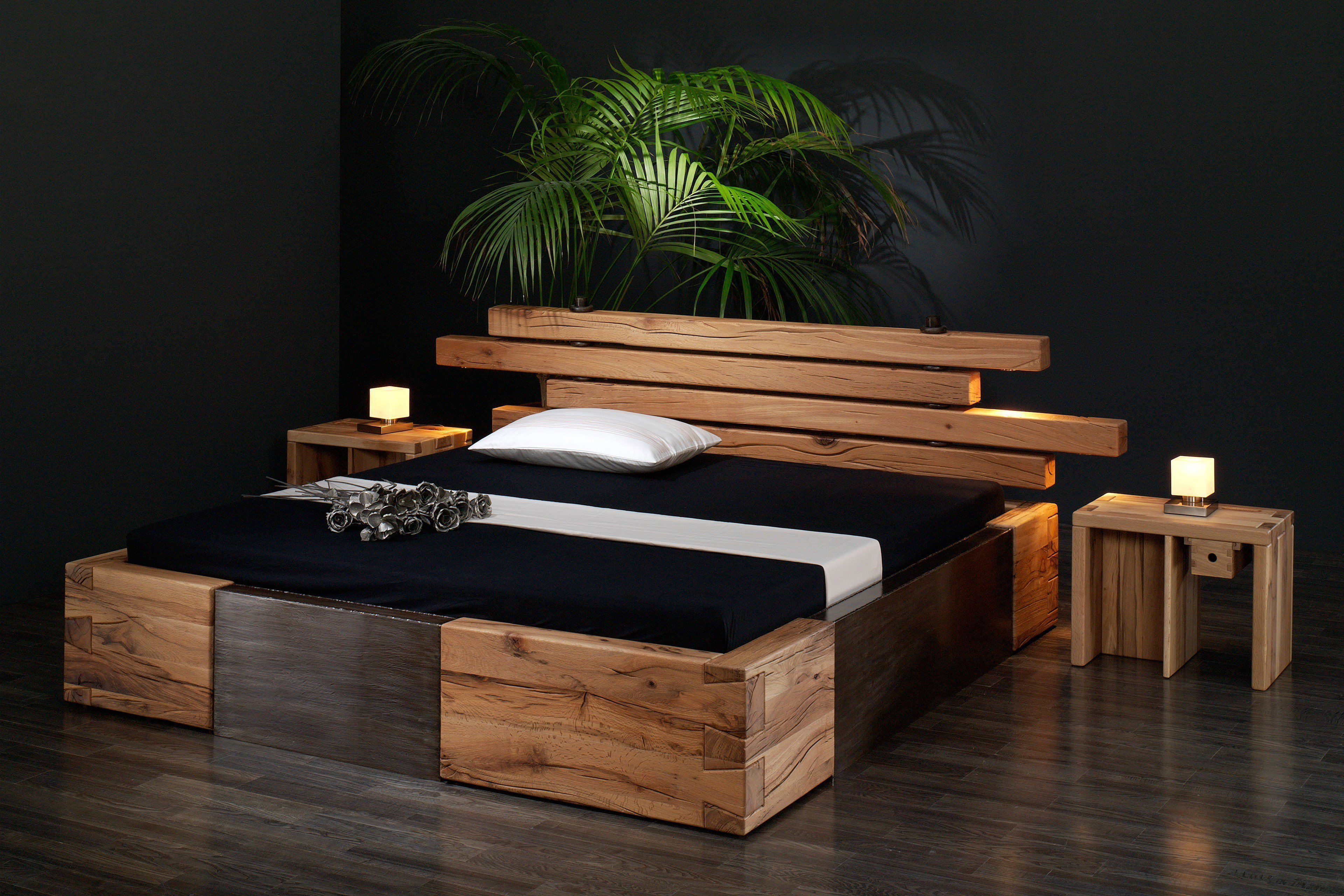 sprenger bett brunhilde sumpfeiche eisen m bel letz ihr online shop. Black Bedroom Furniture Sets. Home Design Ideas