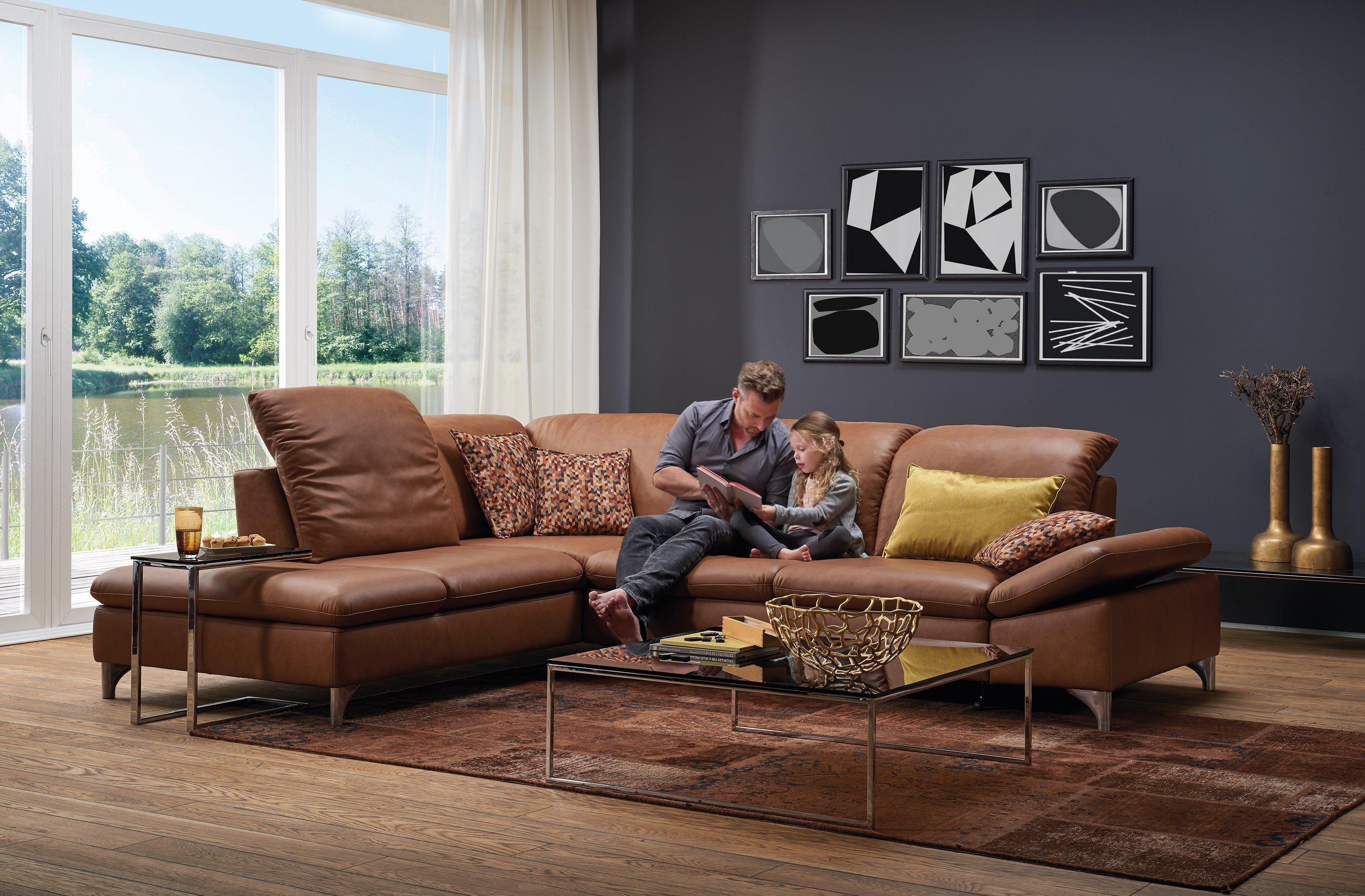 willi schillig 15270 enjoy ledergarnitur in braun m bel letz ihr online shop. Black Bedroom Furniture Sets. Home Design Ideas
