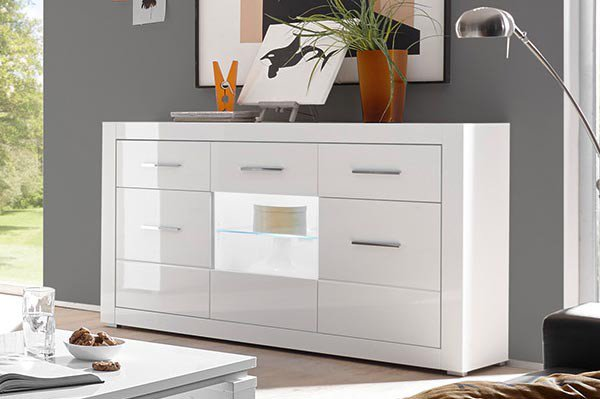 imv steinheim sideboard bianco wei hochglanz m bel letz. Black Bedroom Furniture Sets. Home Design Ideas