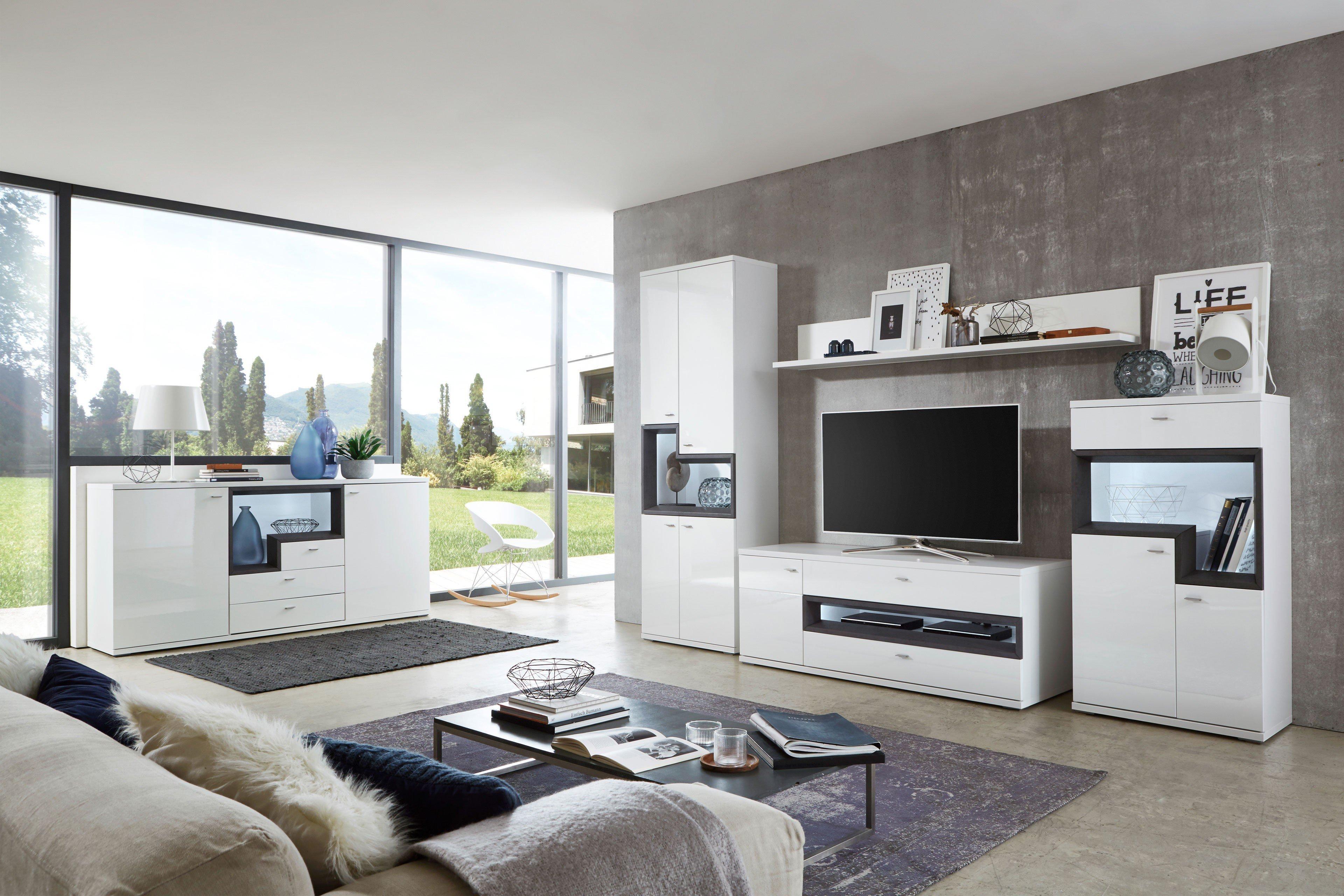 ideal m bel wohnwand belat wei oxid m bel letz ihr online shop. Black Bedroom Furniture Sets. Home Design Ideas