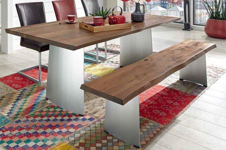 niehoff esstisch 3593 in der ausf hrung wild nussbaum m bel letz ihr online shop. Black Bedroom Furniture Sets. Home Design Ideas