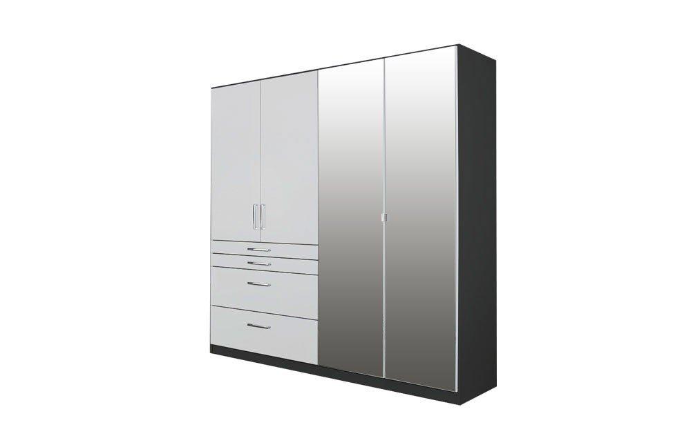Rauch Harburg Kombischrank weiß - grau-metallic | Möbel Letz - Ihr ...
