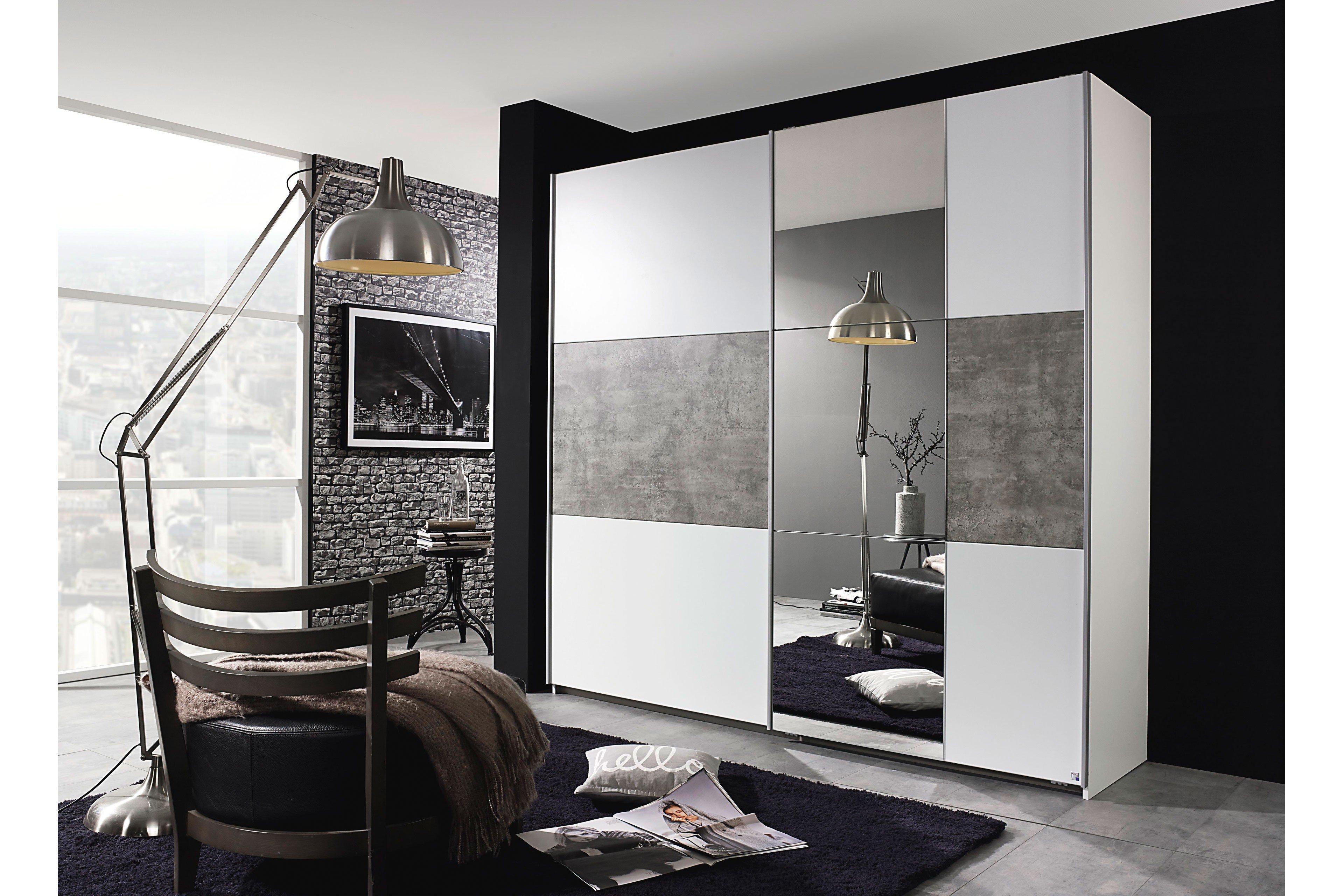 rauch prenzlau kleiderschrank wei stone grey m bel. Black Bedroom Furniture Sets. Home Design Ideas