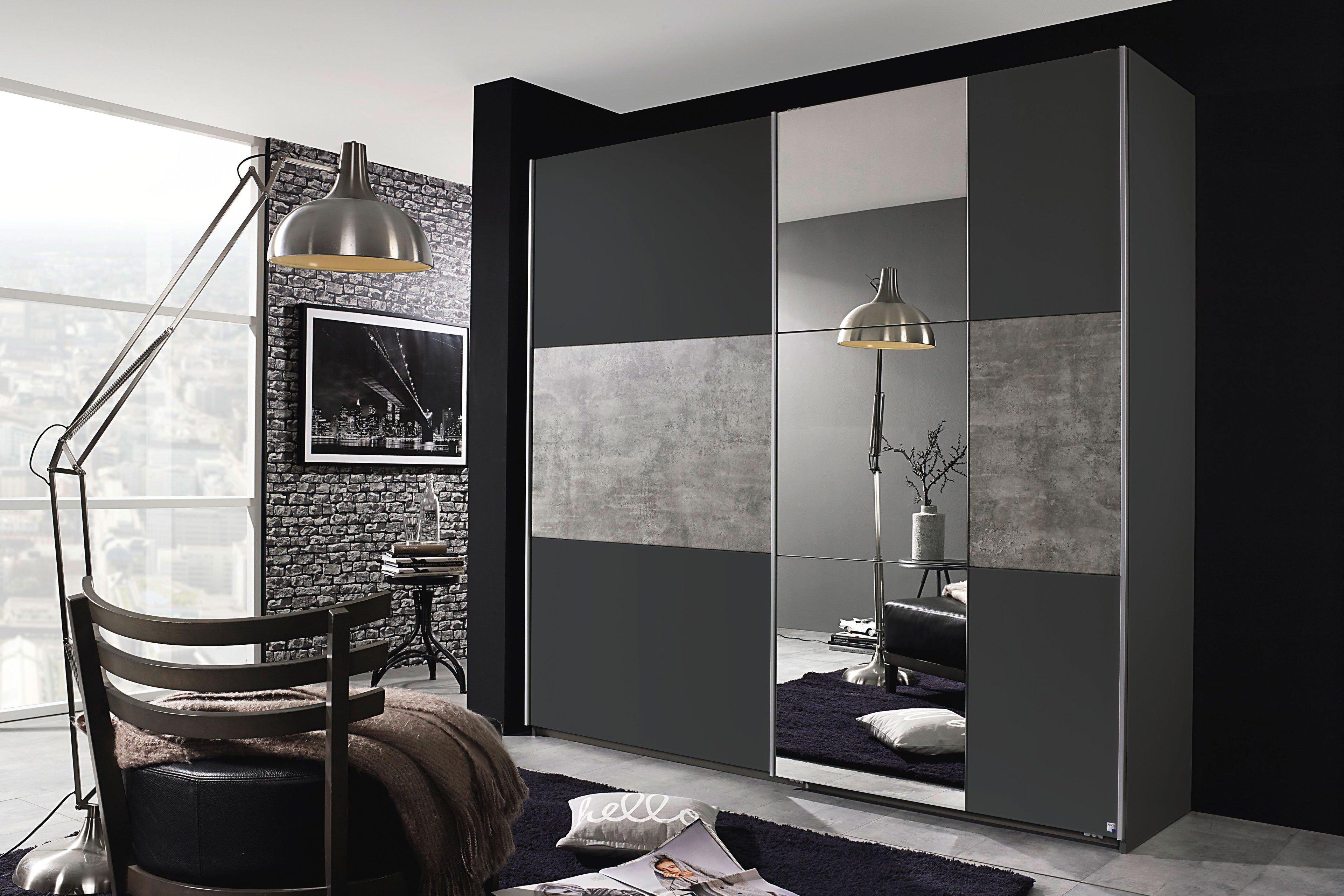 rauch prenzlau kleiderschrank wei stone grey m bel letz ihr online shop. Black Bedroom Furniture Sets. Home Design Ideas