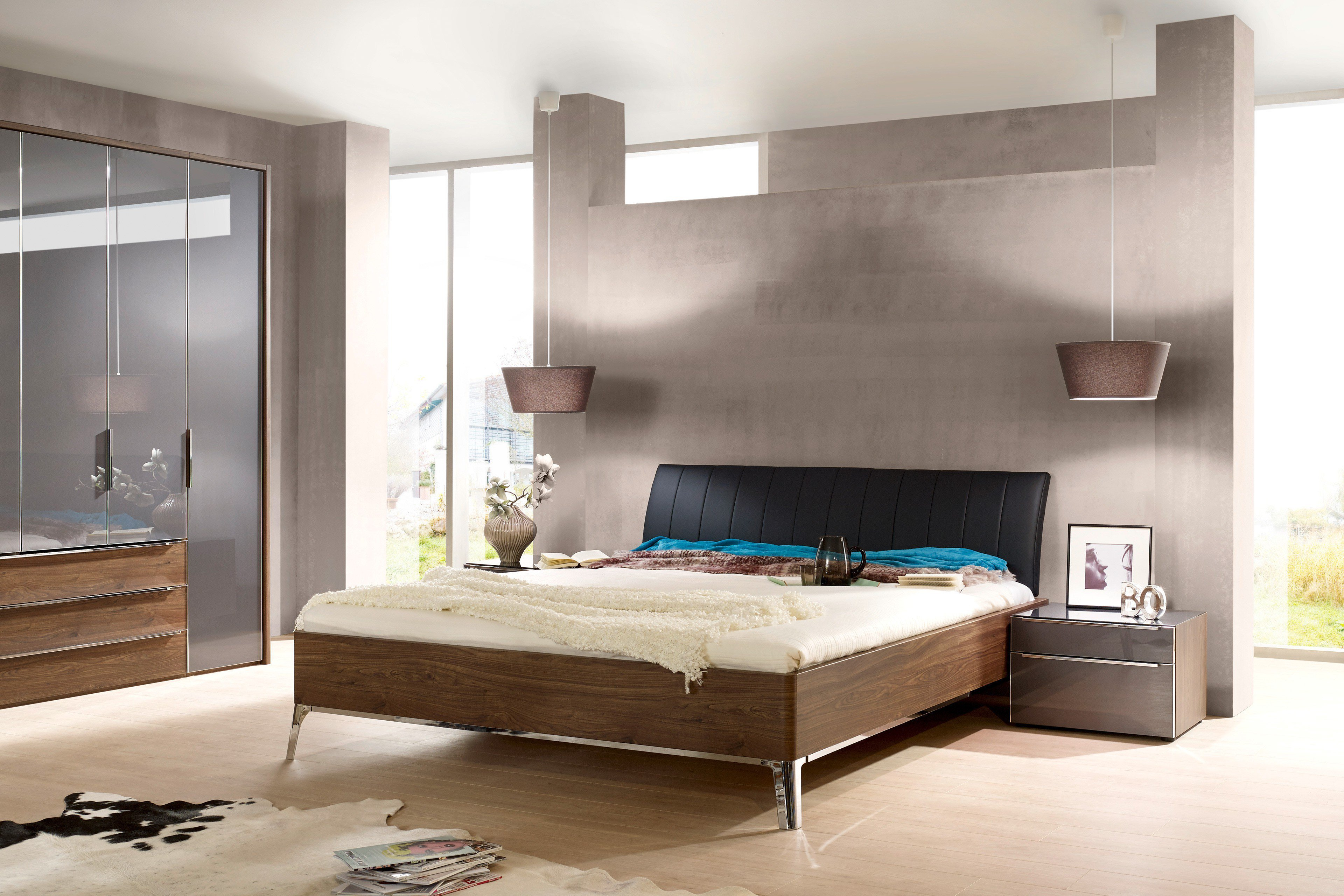 nolte doppelbett sonyo macadamia nussbaum m bel letz ihr online shop. Black Bedroom Furniture Sets. Home Design Ideas