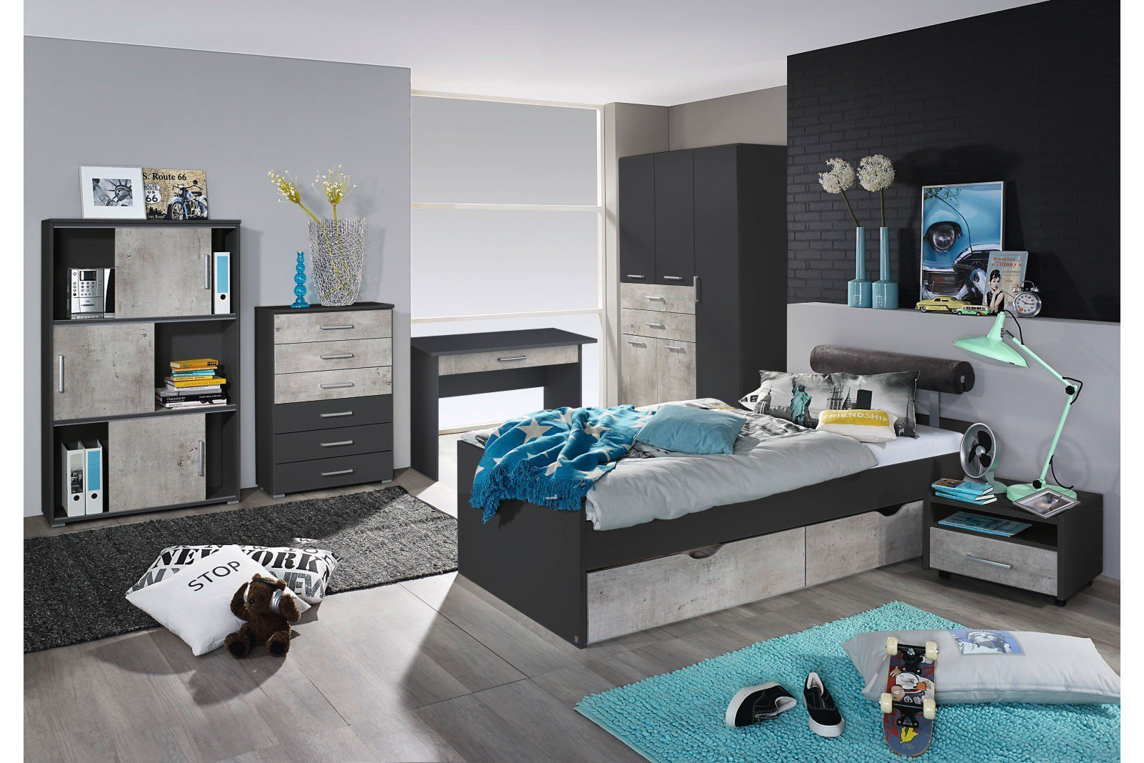 rauch jugendzimmer m bel mailo grau stone m bel letz ihr online shop. Black Bedroom Furniture Sets. Home Design Ideas