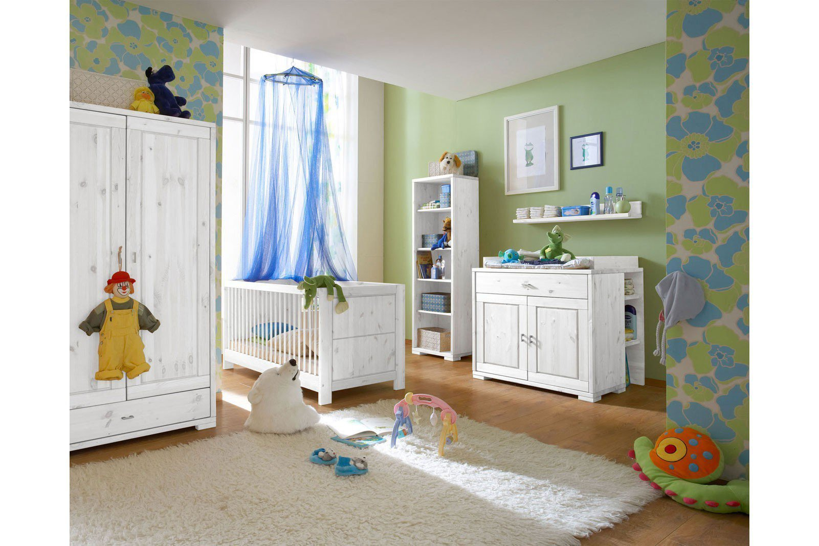 Luwo massivholz babyzimmer guldborg kiefer wei m bel - Babyzimmer deko set ...