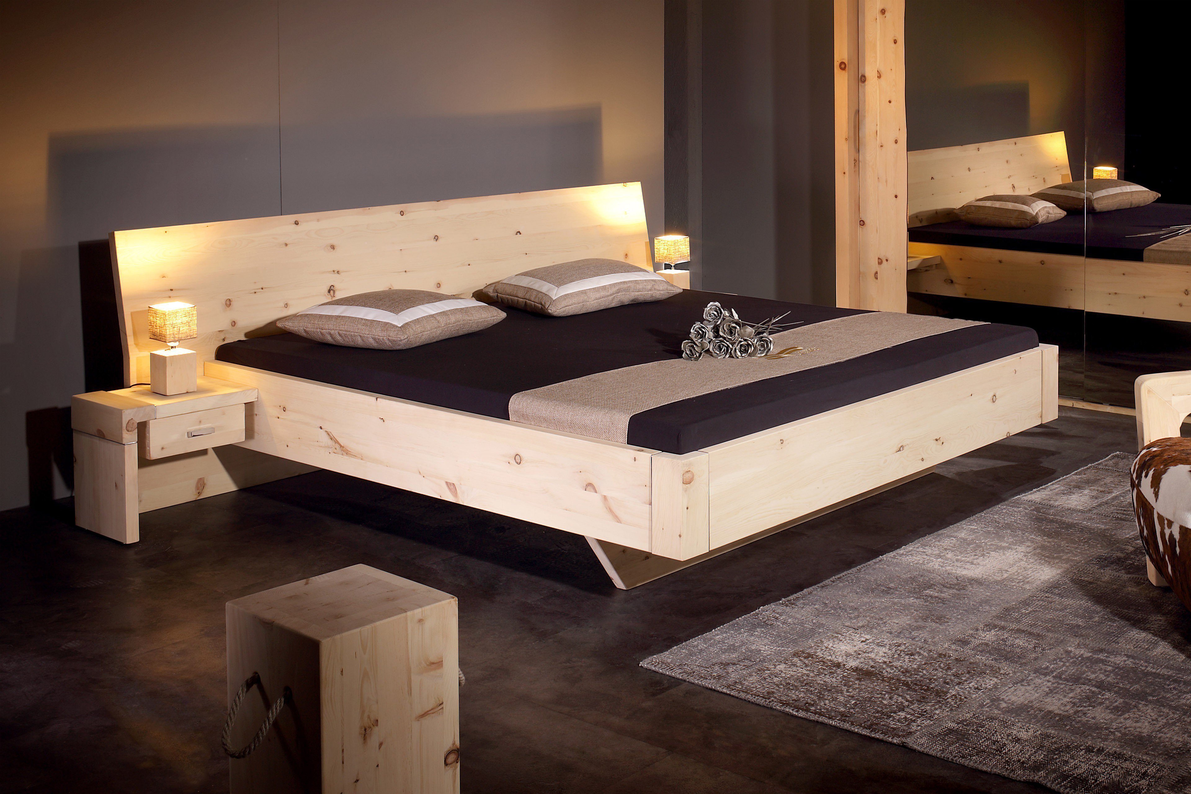 sprenger m bel bett alpina zirbenholz m bel letz ihr online shop. Black Bedroom Furniture Sets. Home Design Ideas