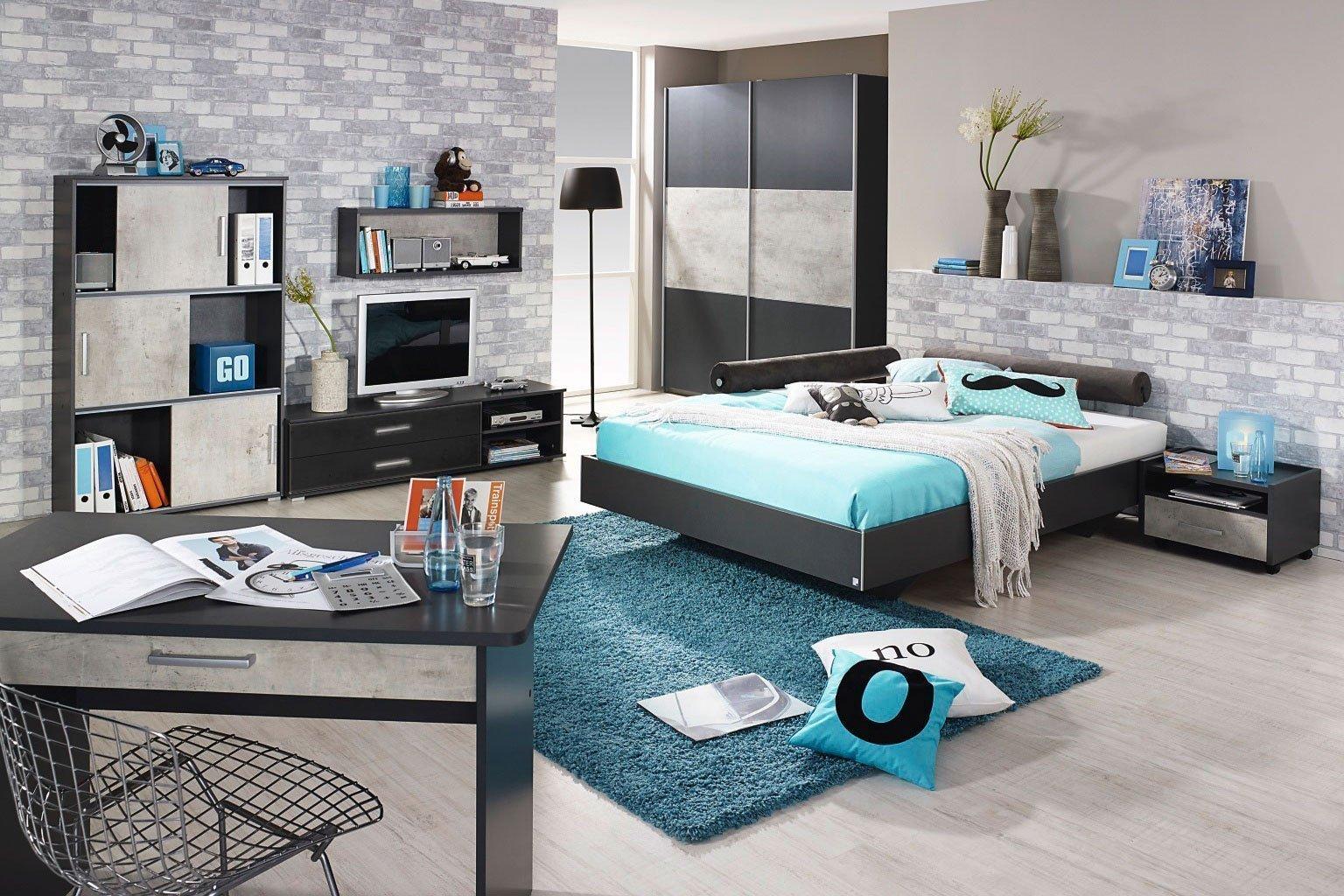 rauch mailo jugendm bel grau stone grey m bel letz ihr online shop. Black Bedroom Furniture Sets. Home Design Ideas