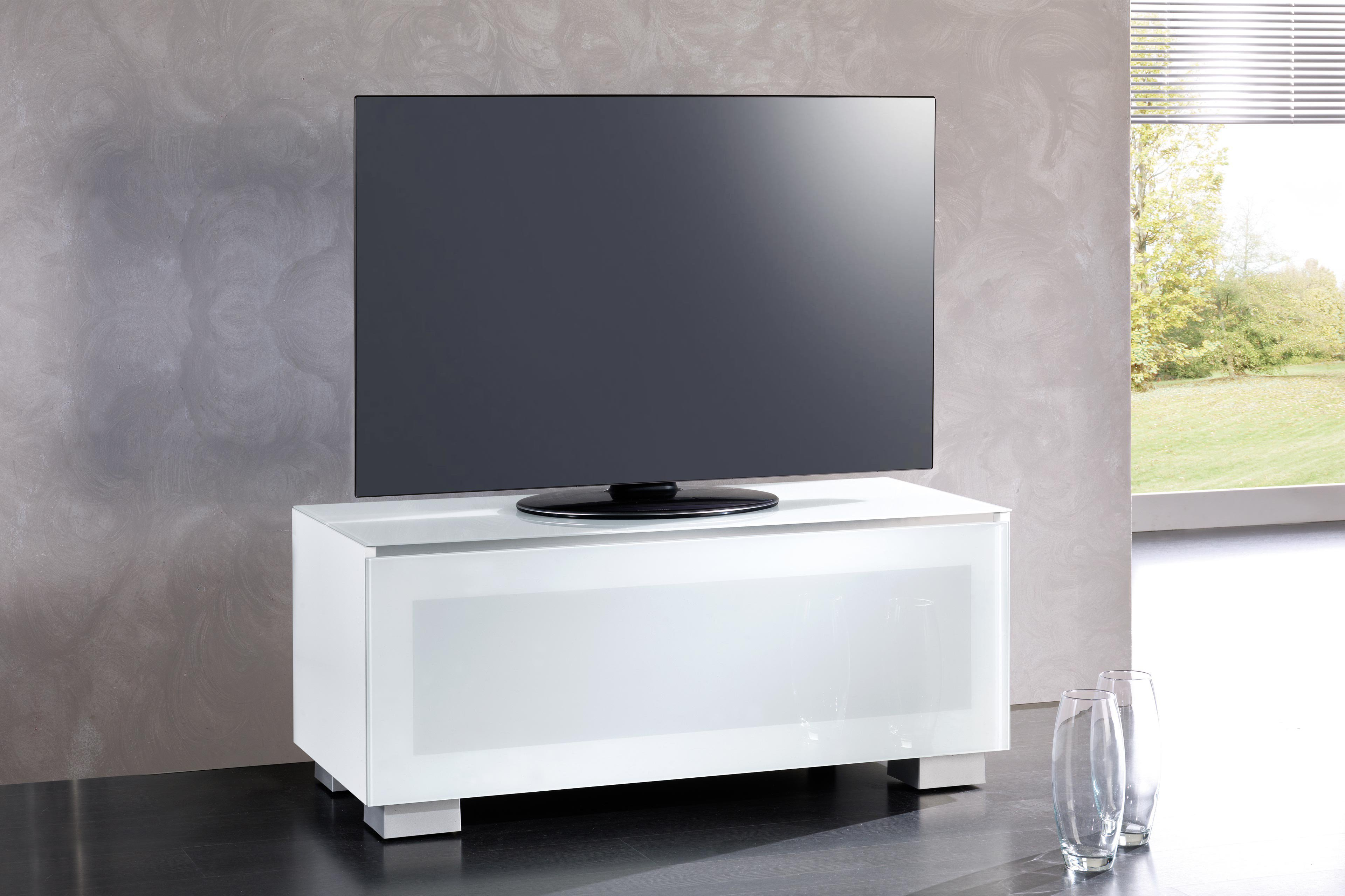 munari genova tv m bel ge110bi glas wei m bel letz ihr online shop. Black Bedroom Furniture Sets. Home Design Ideas