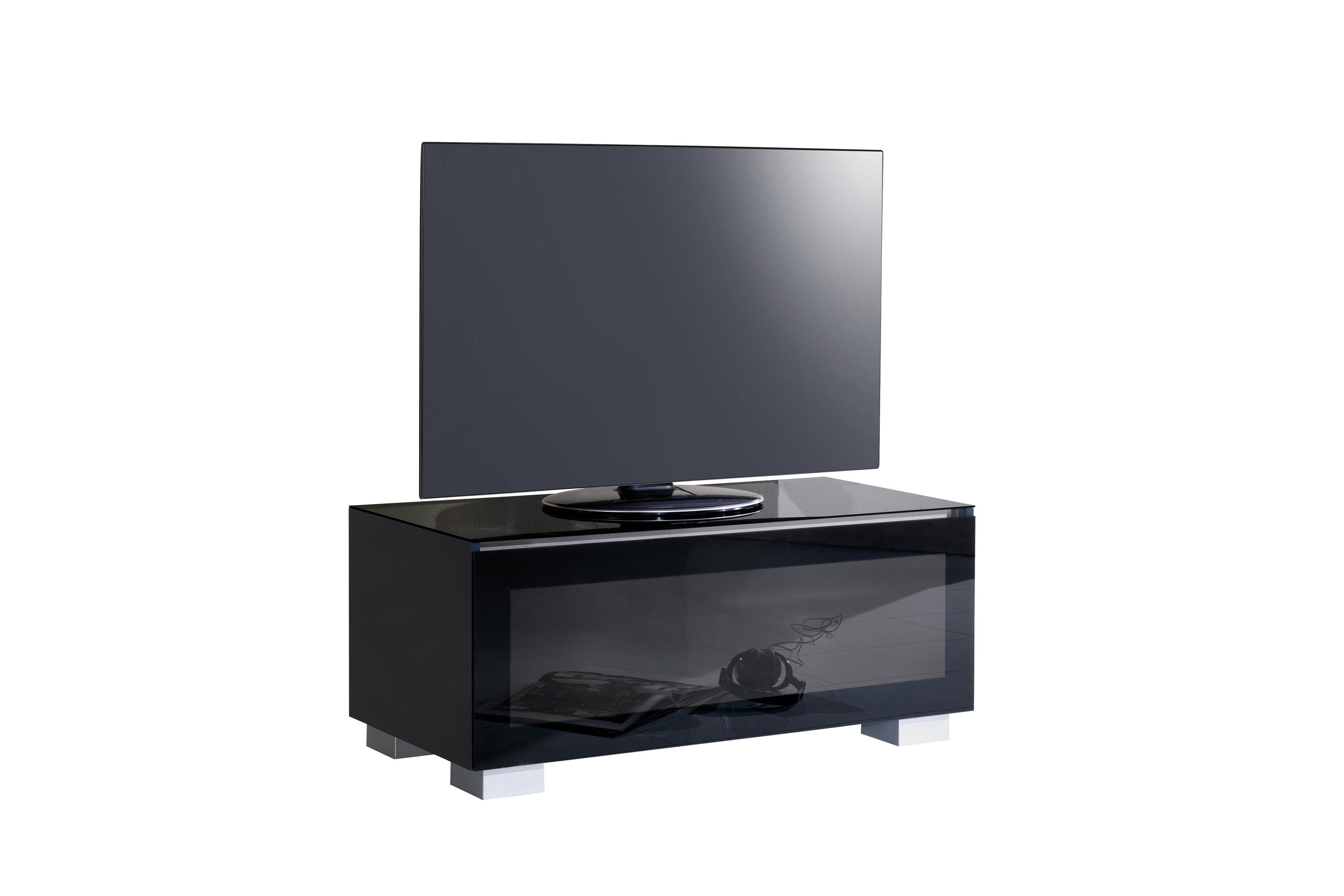 munari genova tv m bel ge110bi glas wei m bel letz. Black Bedroom Furniture Sets. Home Design Ideas