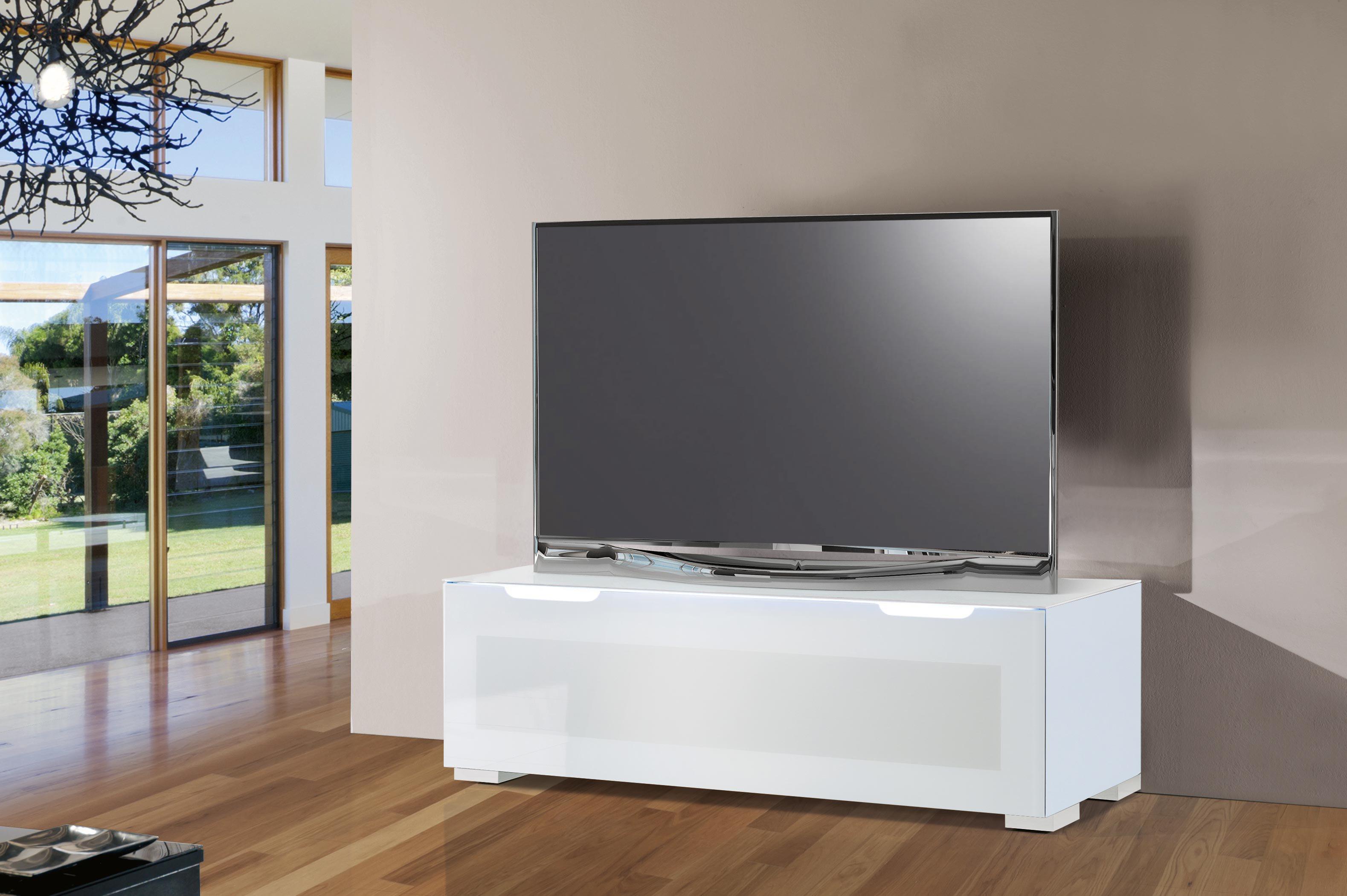 munari paris tv m bel ps125bi glas wei m bel letz ihr online shop. Black Bedroom Furniture Sets. Home Design Ideas