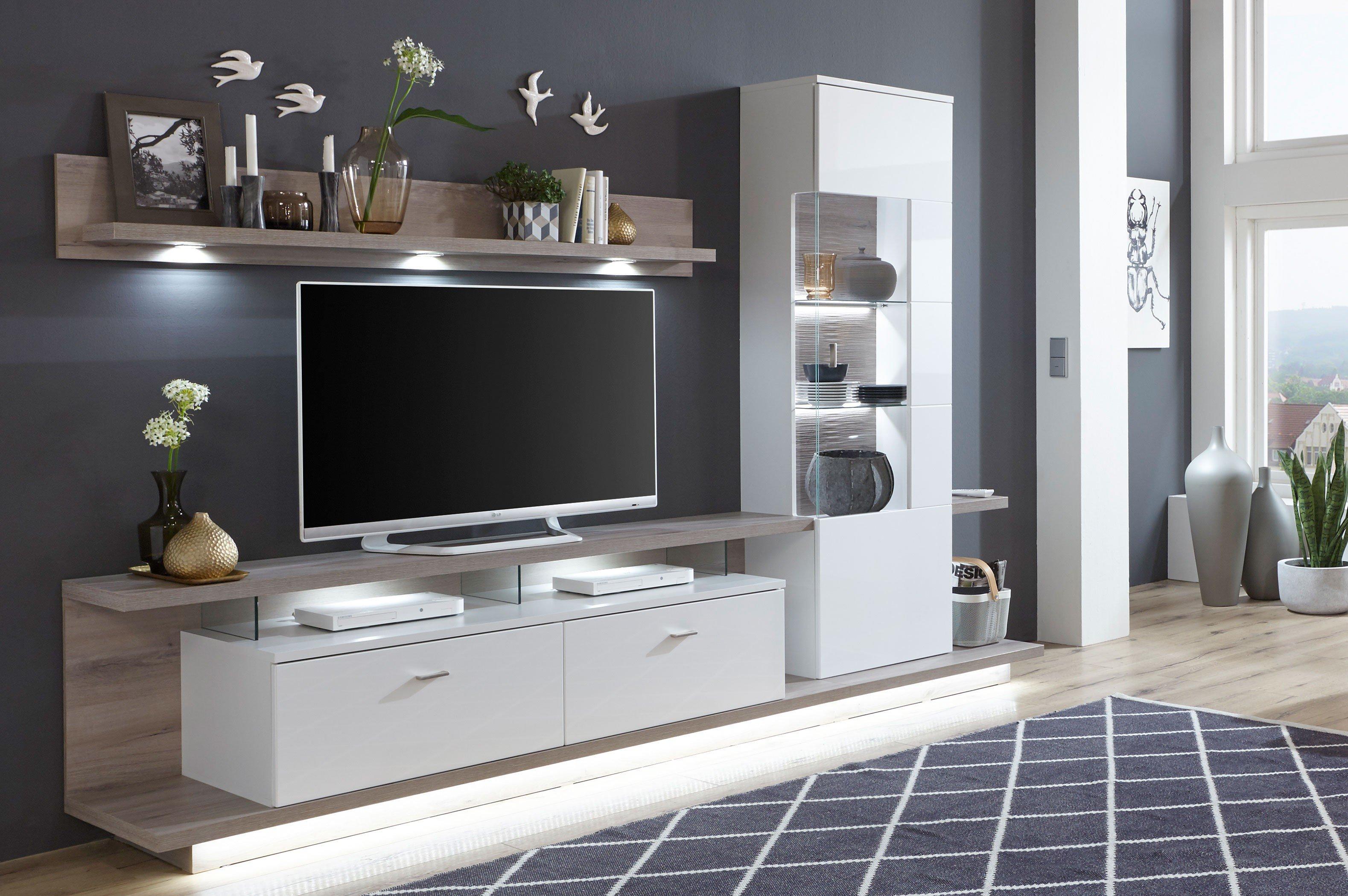 wohnwand gnstig auf raten kaufen trendy wohnwand sarah in sonoma eiche teilig with wohnwand. Black Bedroom Furniture Sets. Home Design Ideas