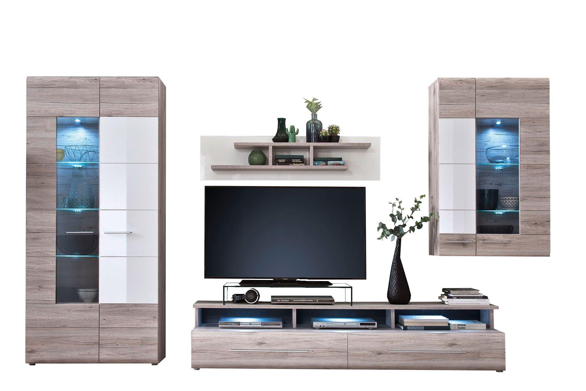 trendteam wohnwand apollo sandeiche nachbildung m bel. Black Bedroom Furniture Sets. Home Design Ideas