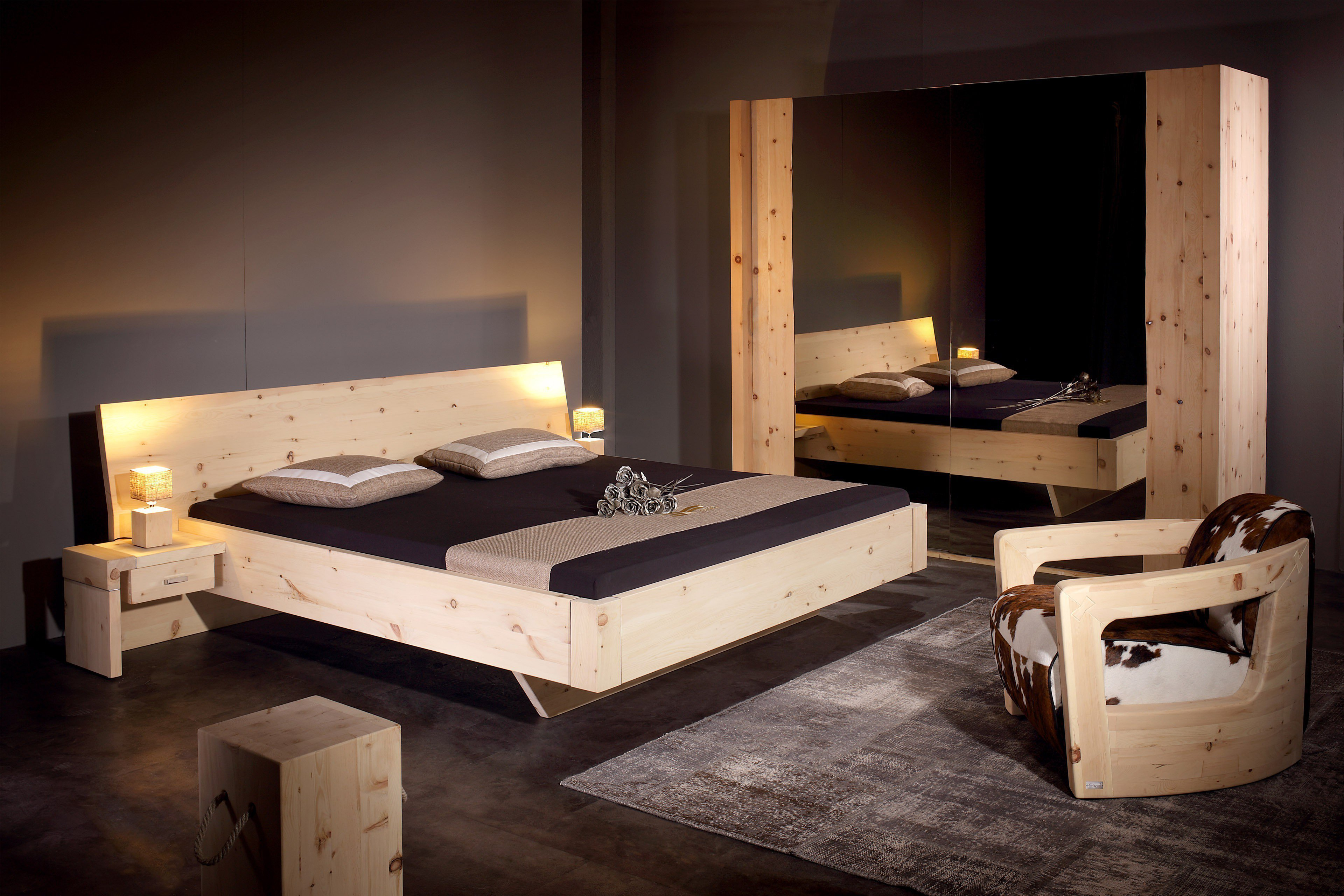 sprenger m bel schlafzimmer alpina zirbe m bel letz ihr online shop. Black Bedroom Furniture Sets. Home Design Ideas
