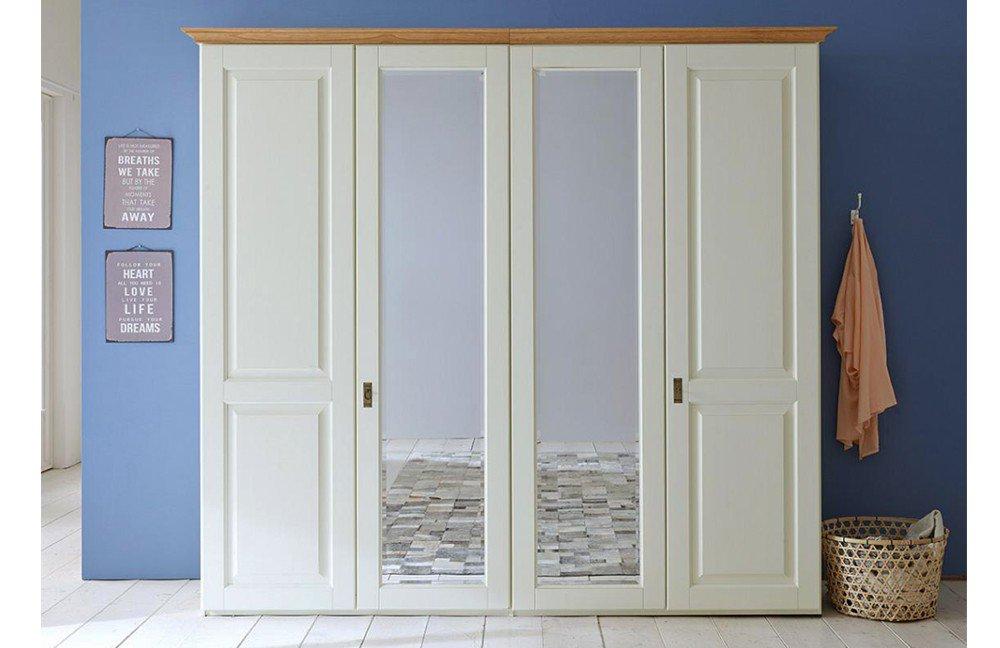 gomab kleiderschrank massiv kiefer creme m bel letz ihr online shop. Black Bedroom Furniture Sets. Home Design Ideas