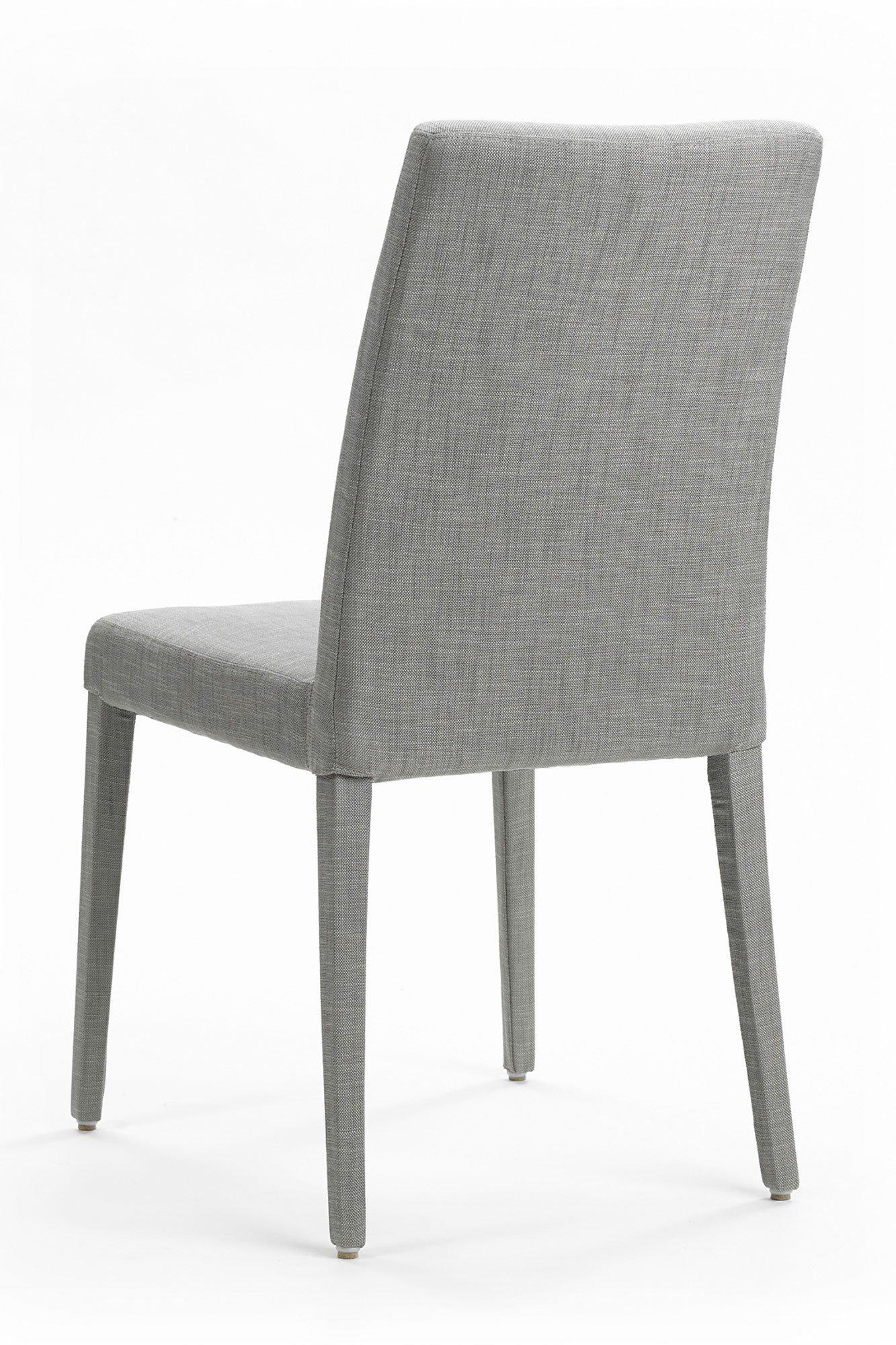 Mobitec stuhl slimm cover grey mit hoher lehne m bel for Stuhl mit hoher lehne