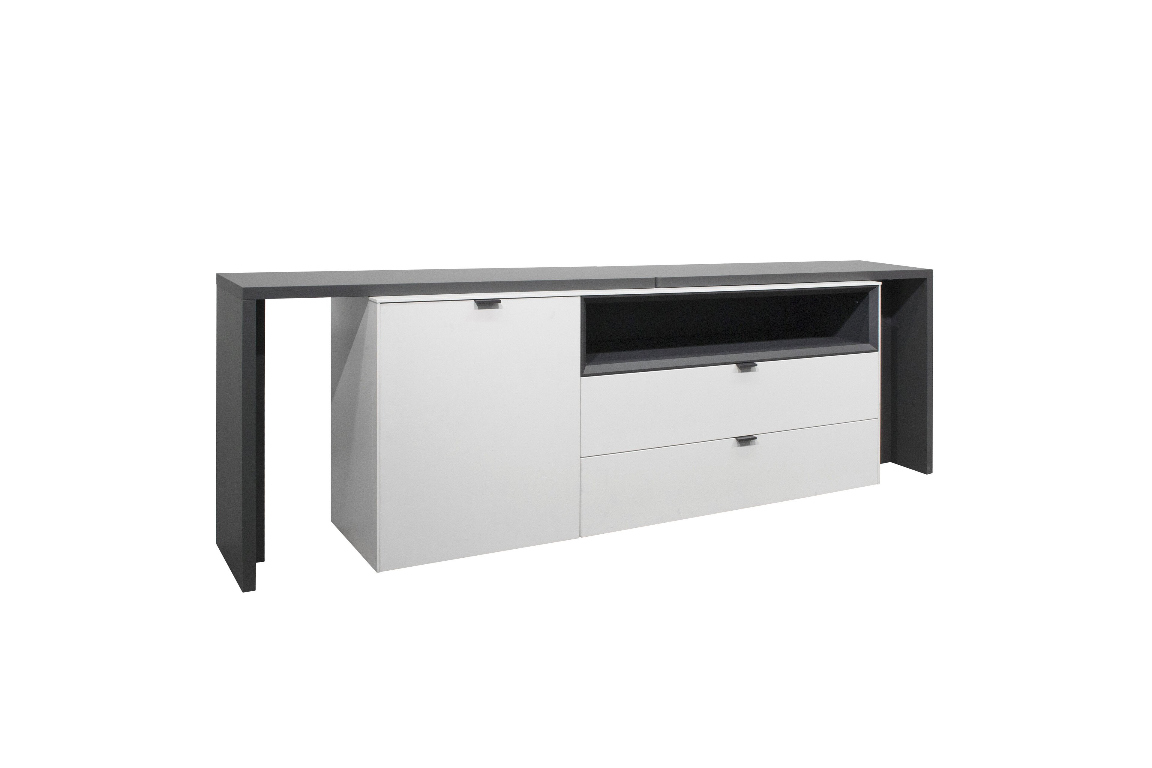 sideboard micelli wei matt lack von m usbacher m bel letz ihr online shop. Black Bedroom Furniture Sets. Home Design Ideas