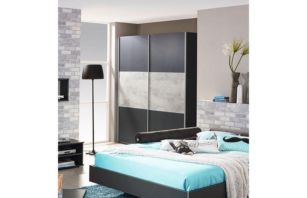 rauch mailo kleiderschrank grau stone print m bel letz ihr online shop. Black Bedroom Furniture Sets. Home Design Ideas