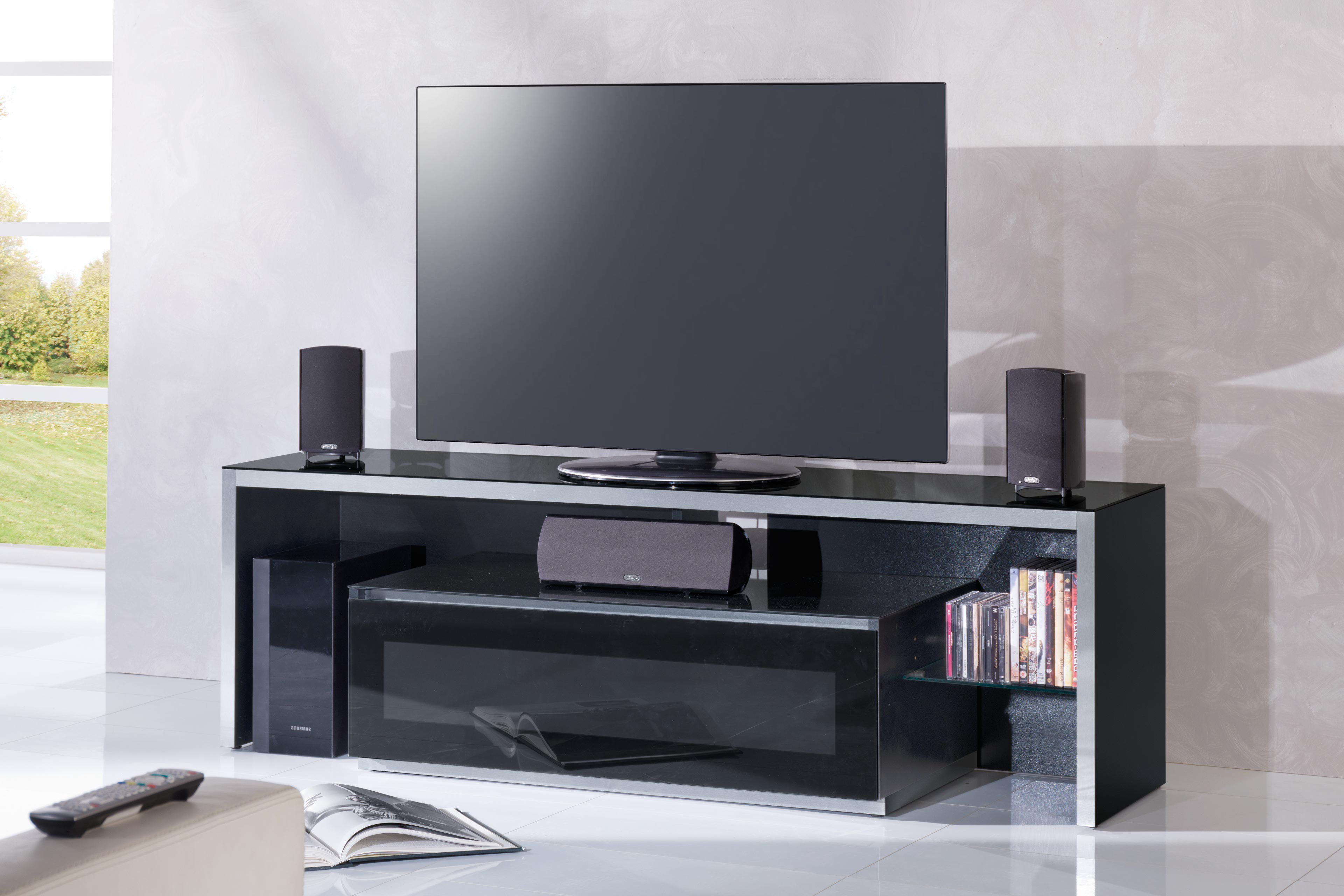munari genova tv m bel ge165ne glas schwarz m bel letz. Black Bedroom Furniture Sets. Home Design Ideas