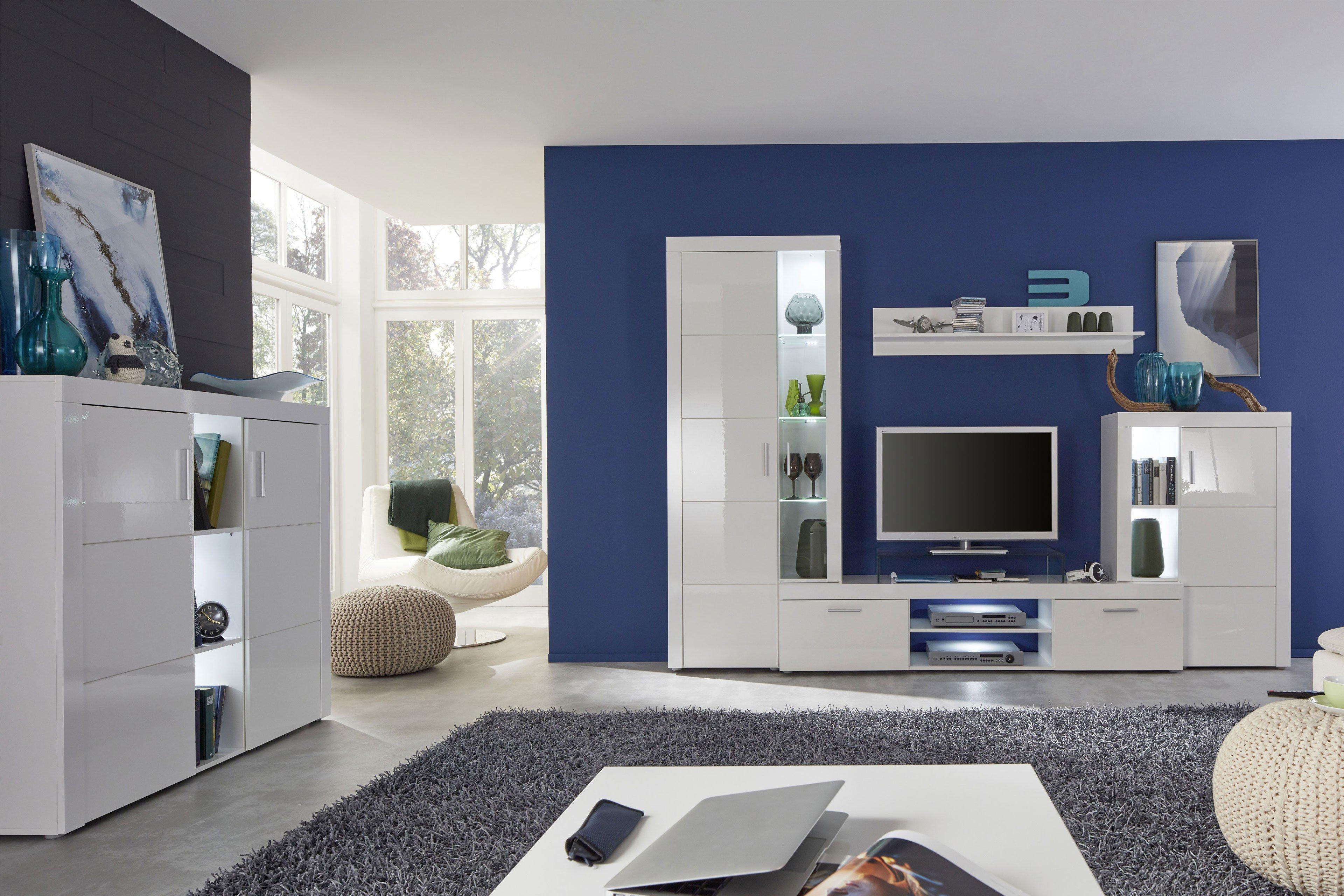 Trendteam Wohnwand Kito weiß | Möbel Letz - Ihr Online-Shop