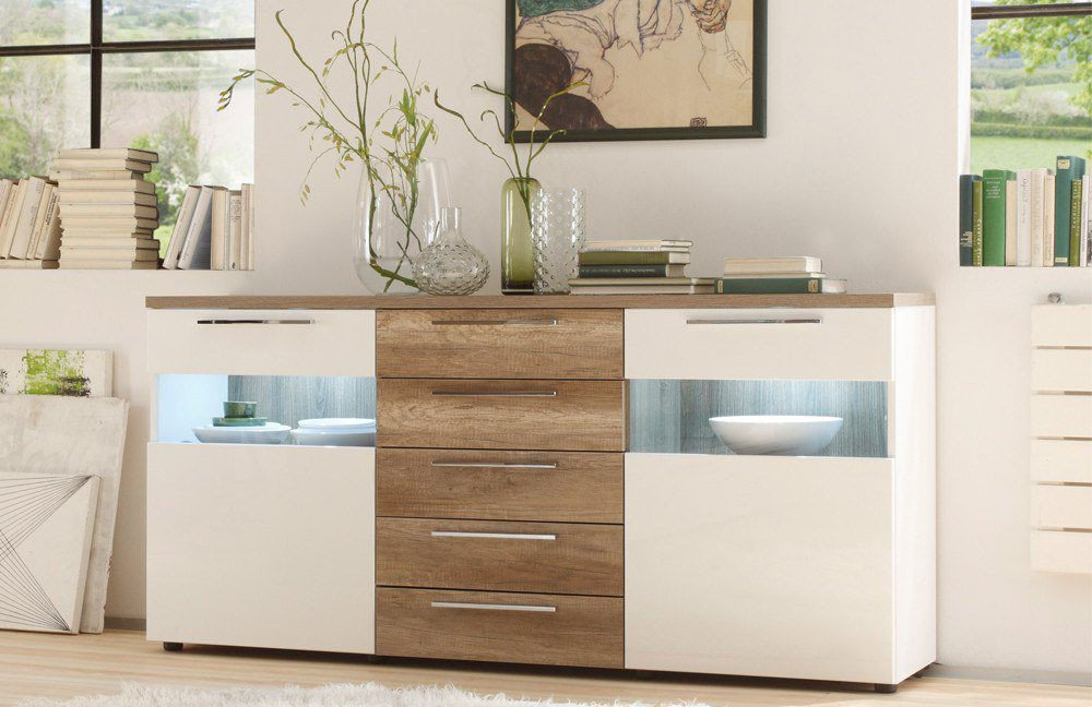 skandinavische m bel sideboard jytte wei sonoma eiche. Black Bedroom Furniture Sets. Home Design Ideas