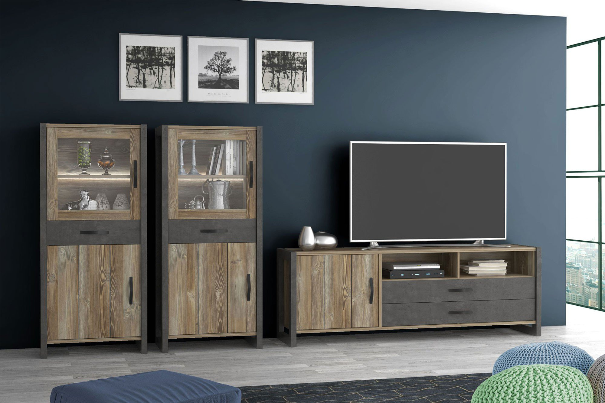 betonoptik m bel swalif. Black Bedroom Furniture Sets. Home Design Ideas