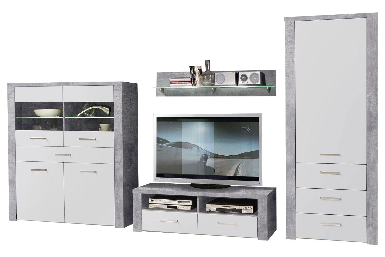 forte m bel wohnwand levante betonoptik m bel letz ihr online shop. Black Bedroom Furniture Sets. Home Design Ideas