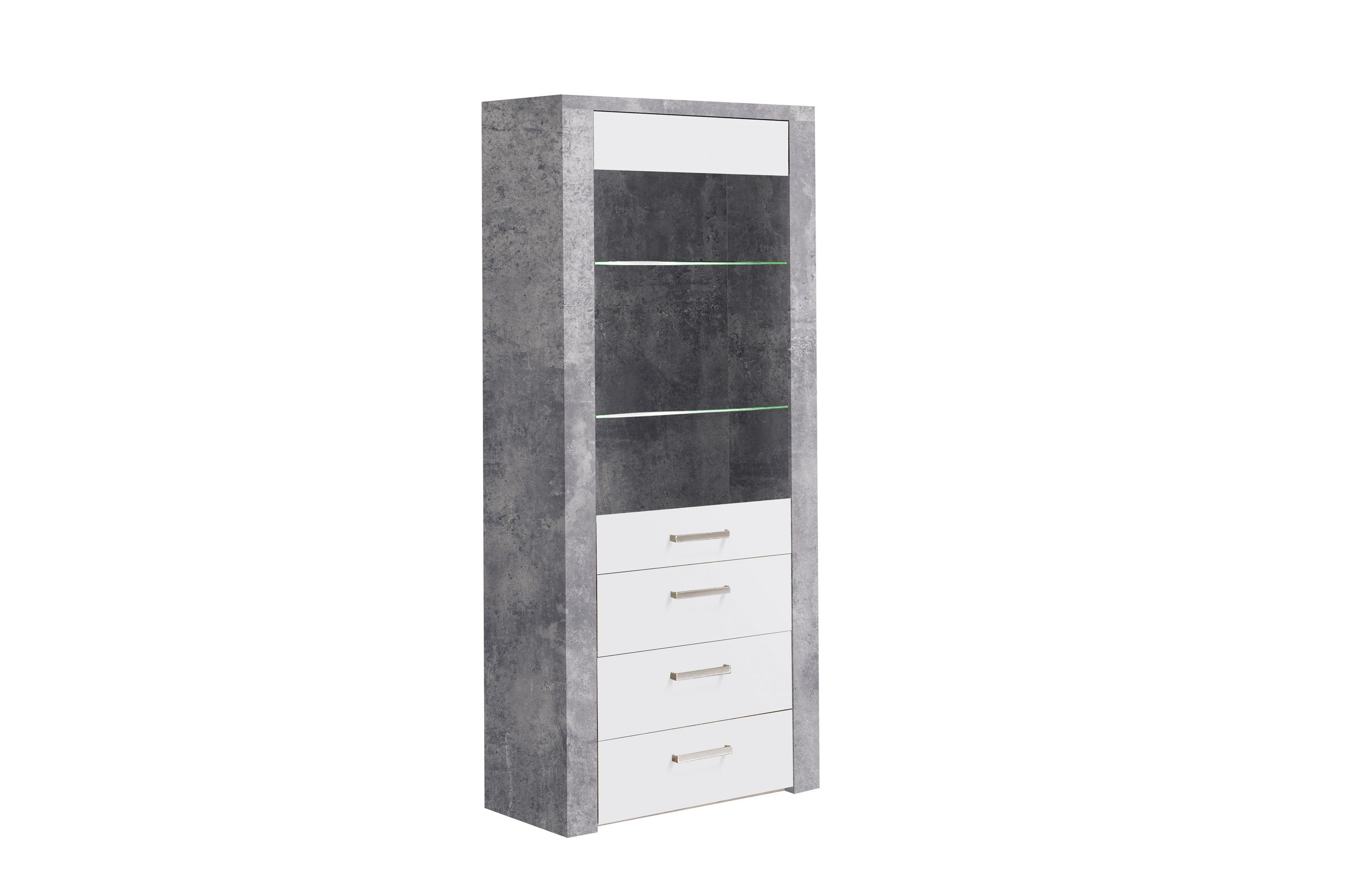 forte m bel vitrine levante betonoptik m bel letz ihr online shop. Black Bedroom Furniture Sets. Home Design Ideas