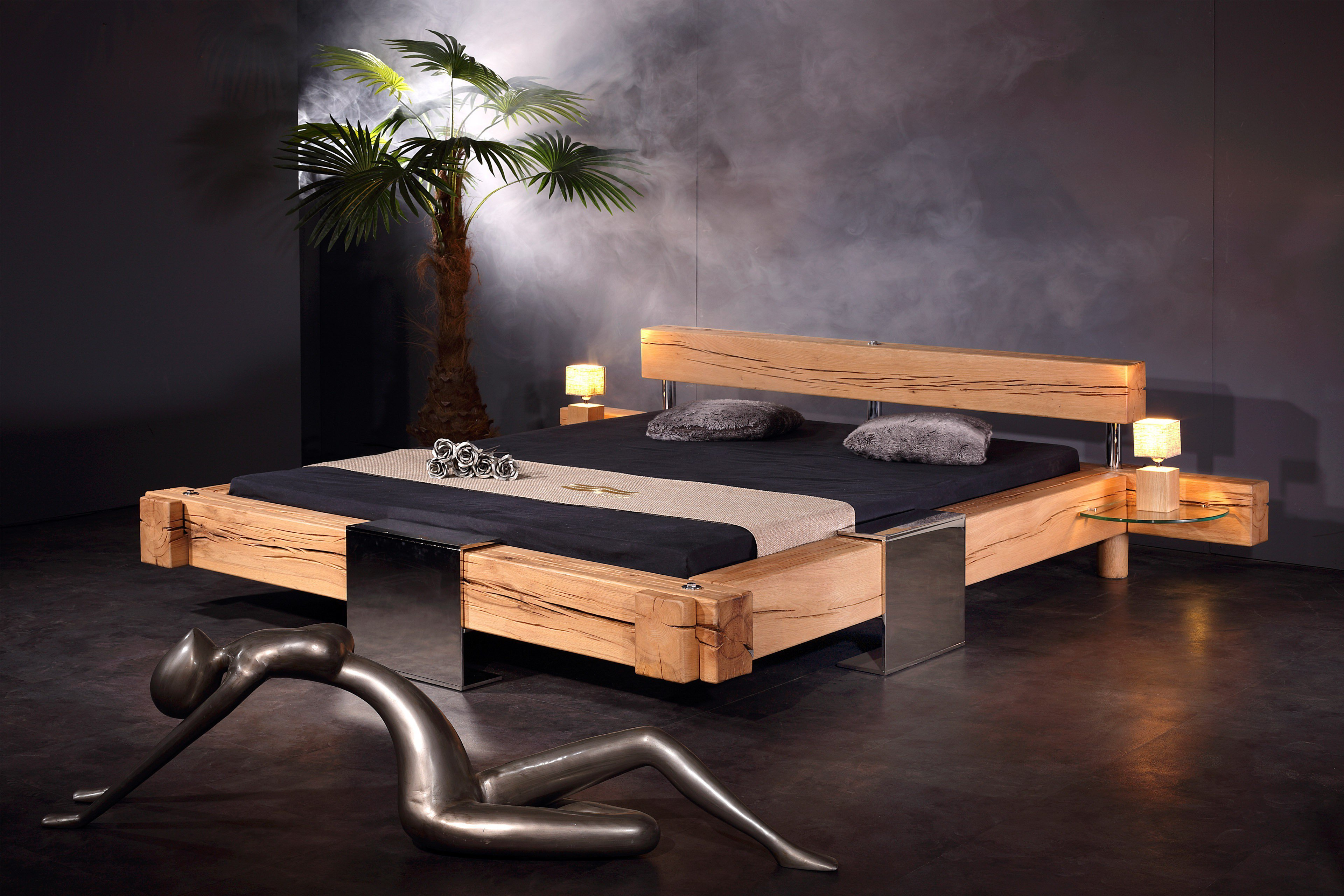 klotz bett sprenger bett sumpfeiche eisen m bel letz ihr online shop. Black Bedroom Furniture Sets. Home Design Ideas