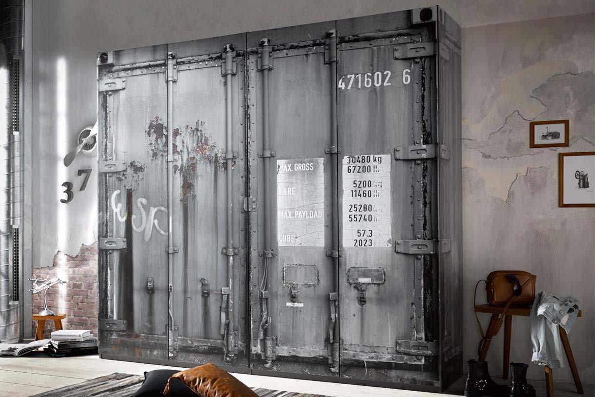 Pol Power Container Schrank Grau 4 Turig Mobel Letz Ihr Online Shop