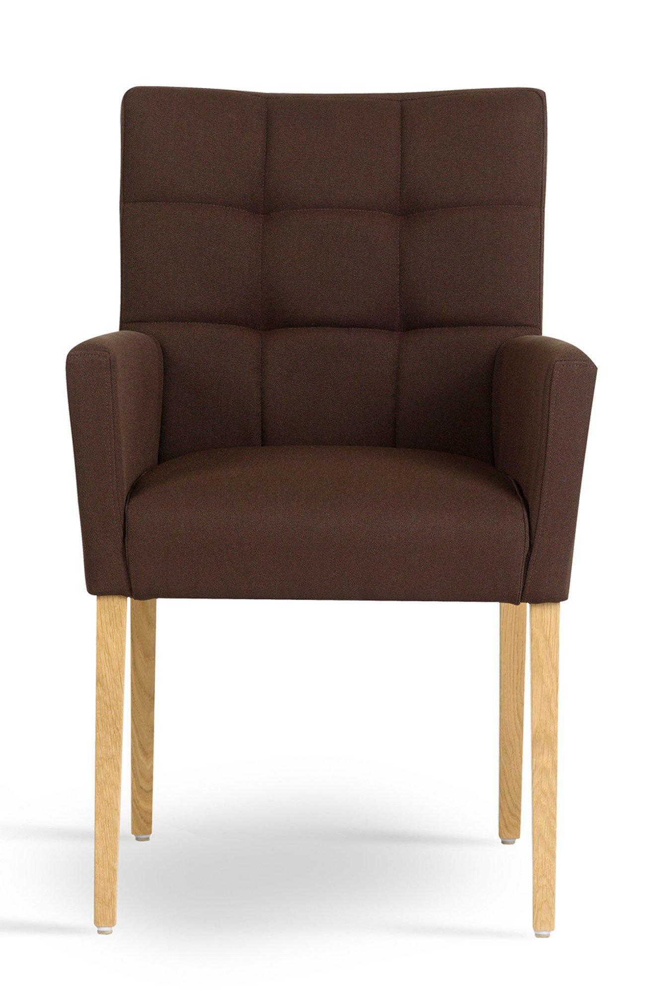 Mobitec stuhl karre mit armlehnen und hoher lehne brown for Stuhl mit hoher lehne