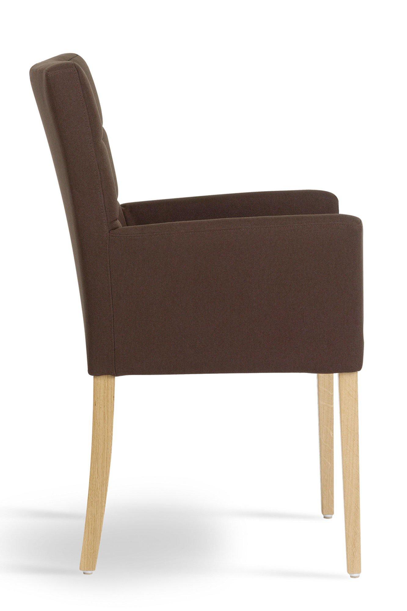 mobitec stuhl karre mit armlehnen und hoher lehne brown eiche m bel letz ihr online shop. Black Bedroom Furniture Sets. Home Design Ideas