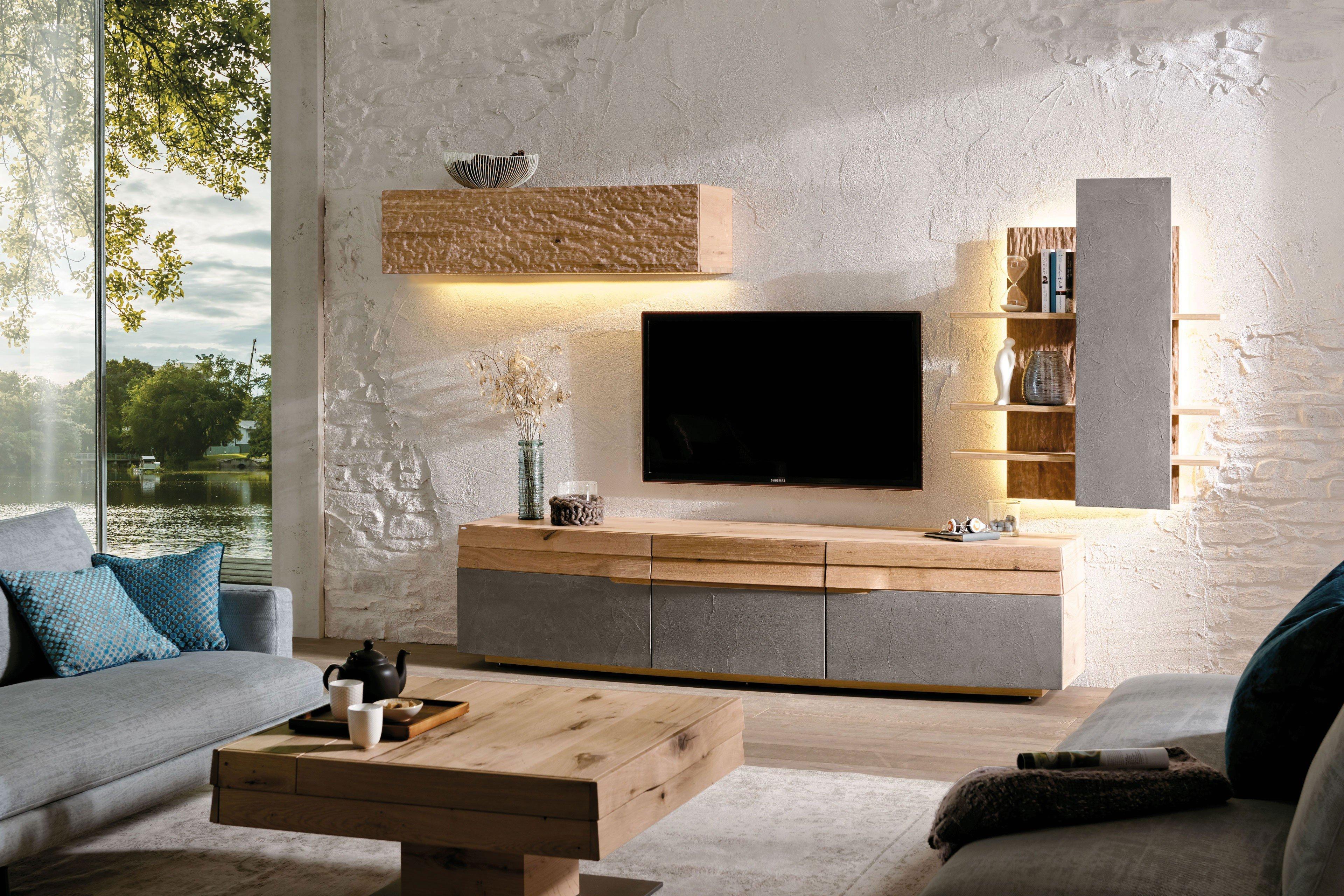 Voglauer wohnwand opus 415 eiche beton m bel letz ihr - Voglauer wohnzimmer ...
