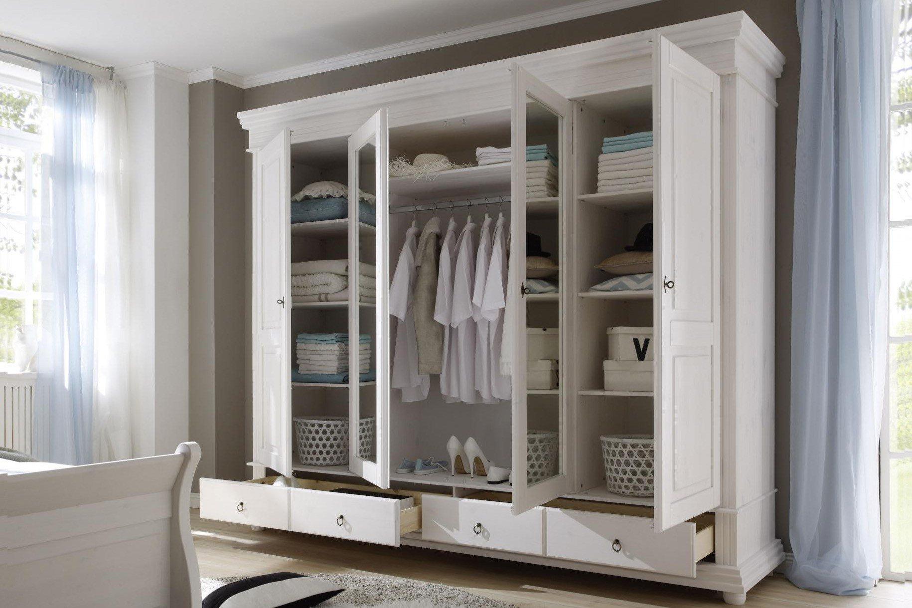 pol power oslo landhausschrank wei massiv m bel letz ihr online shop. Black Bedroom Furniture Sets. Home Design Ideas